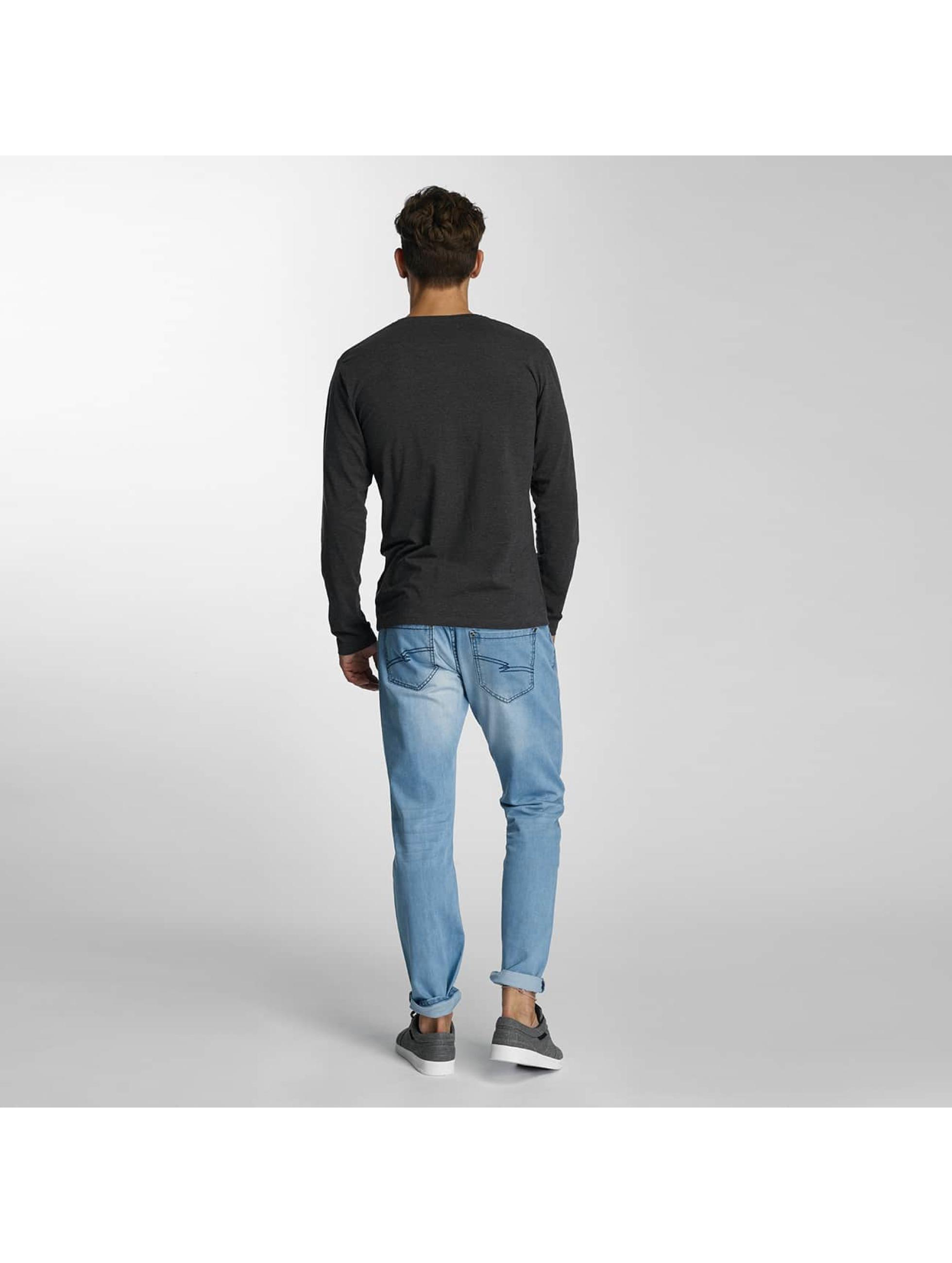 Paris Premium Langærmede Basic Longsleeve grå