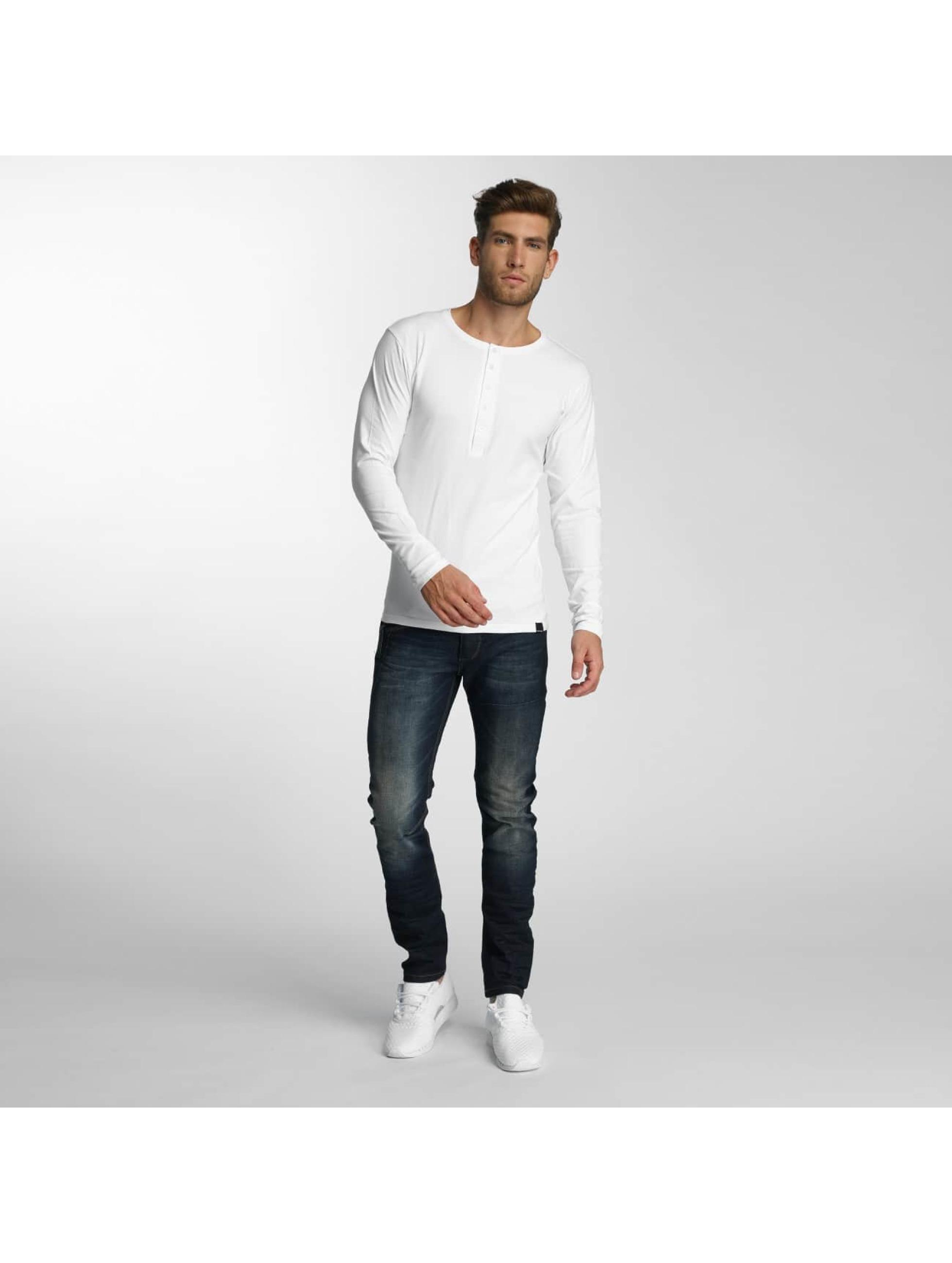 Paris Premium Langærmede Basic hvid