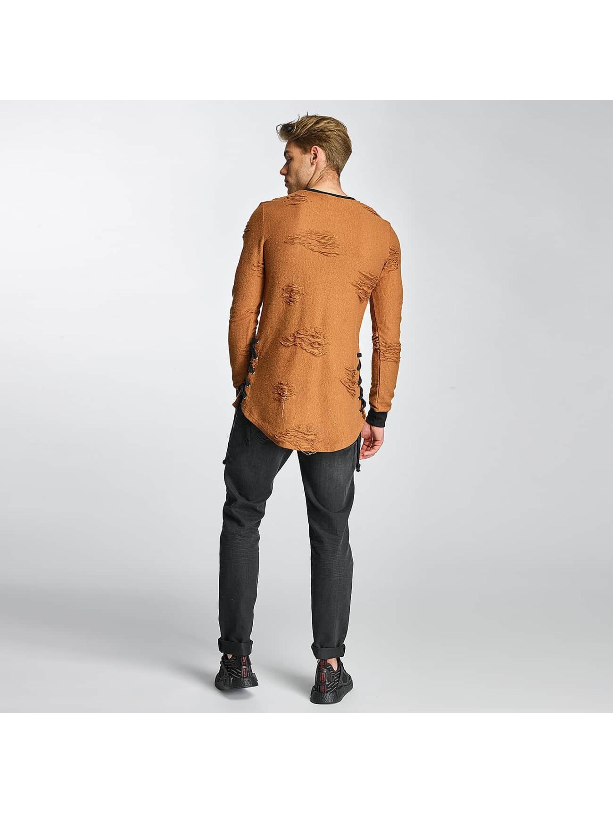 Paris Premium Pullover Destroyed braun