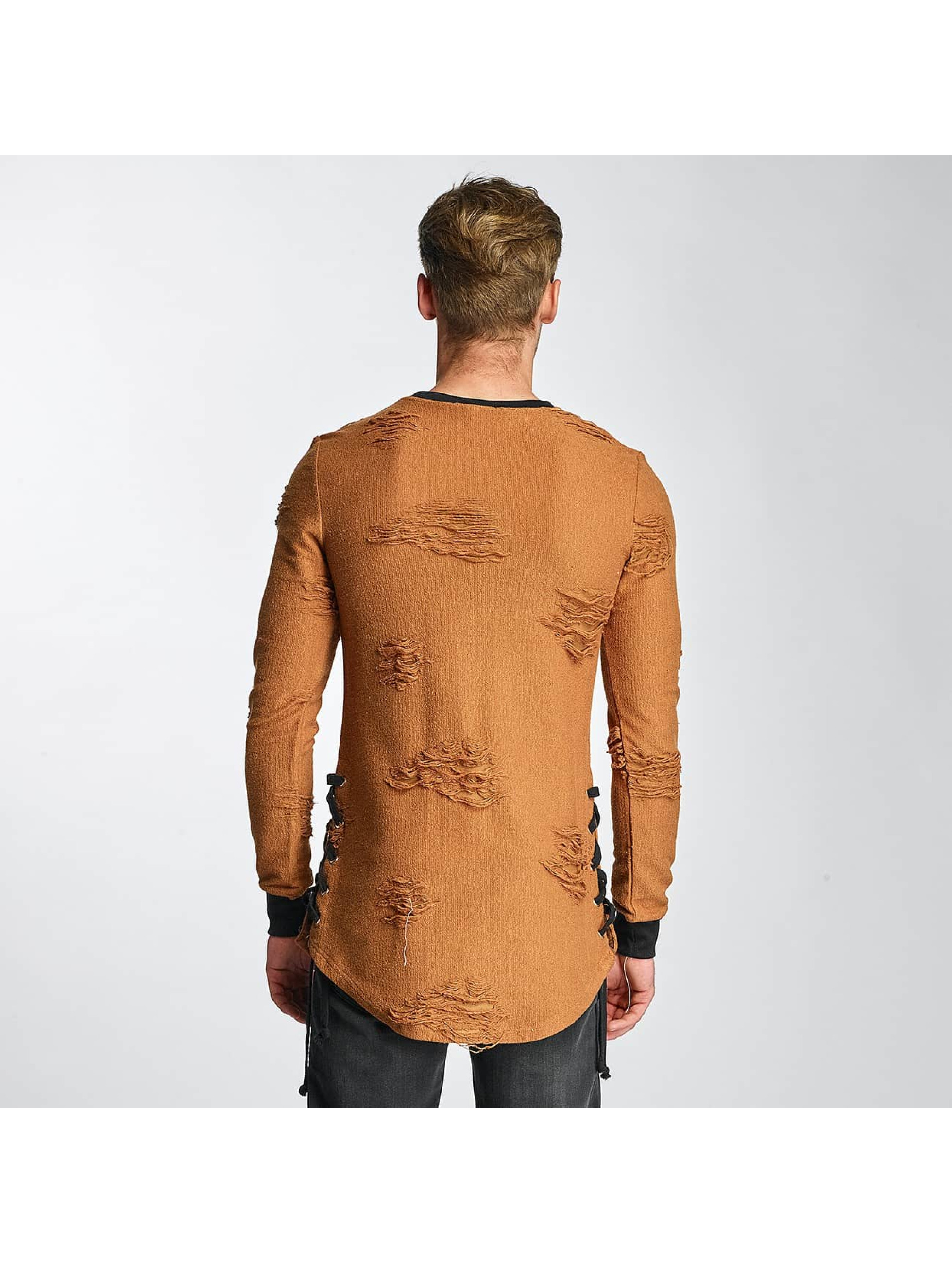 Paris Premium Pullover Destroyed brown