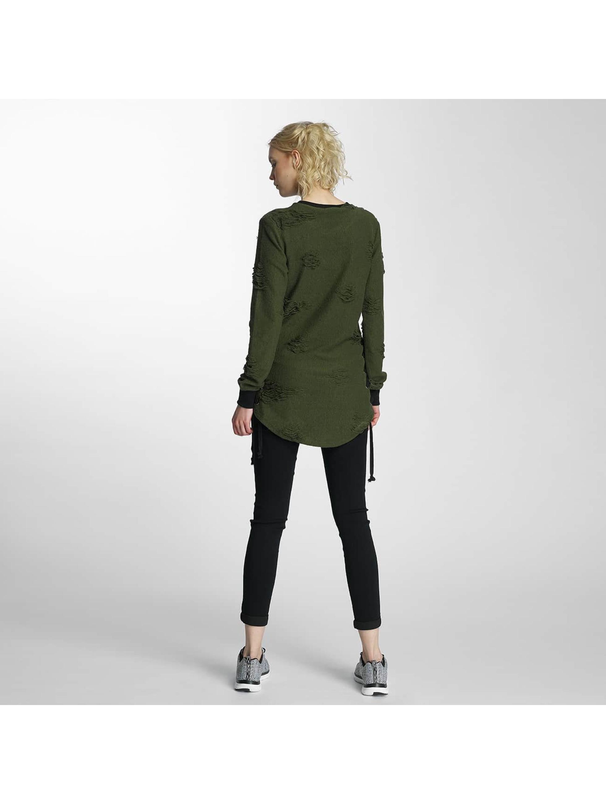 Paris Premium Pullover Destroyed grün