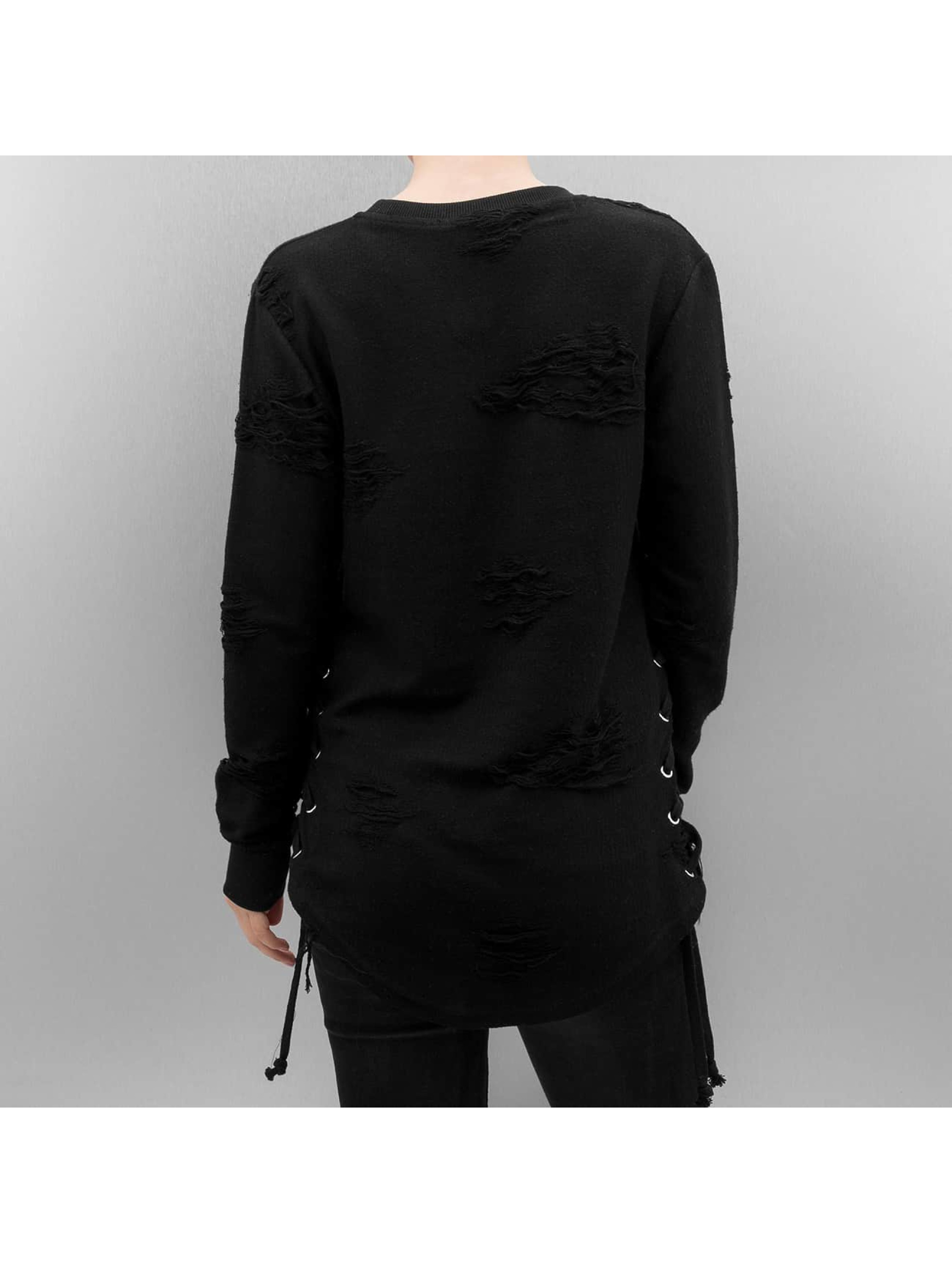 Paris Premium Pullover Destroyed schwarz