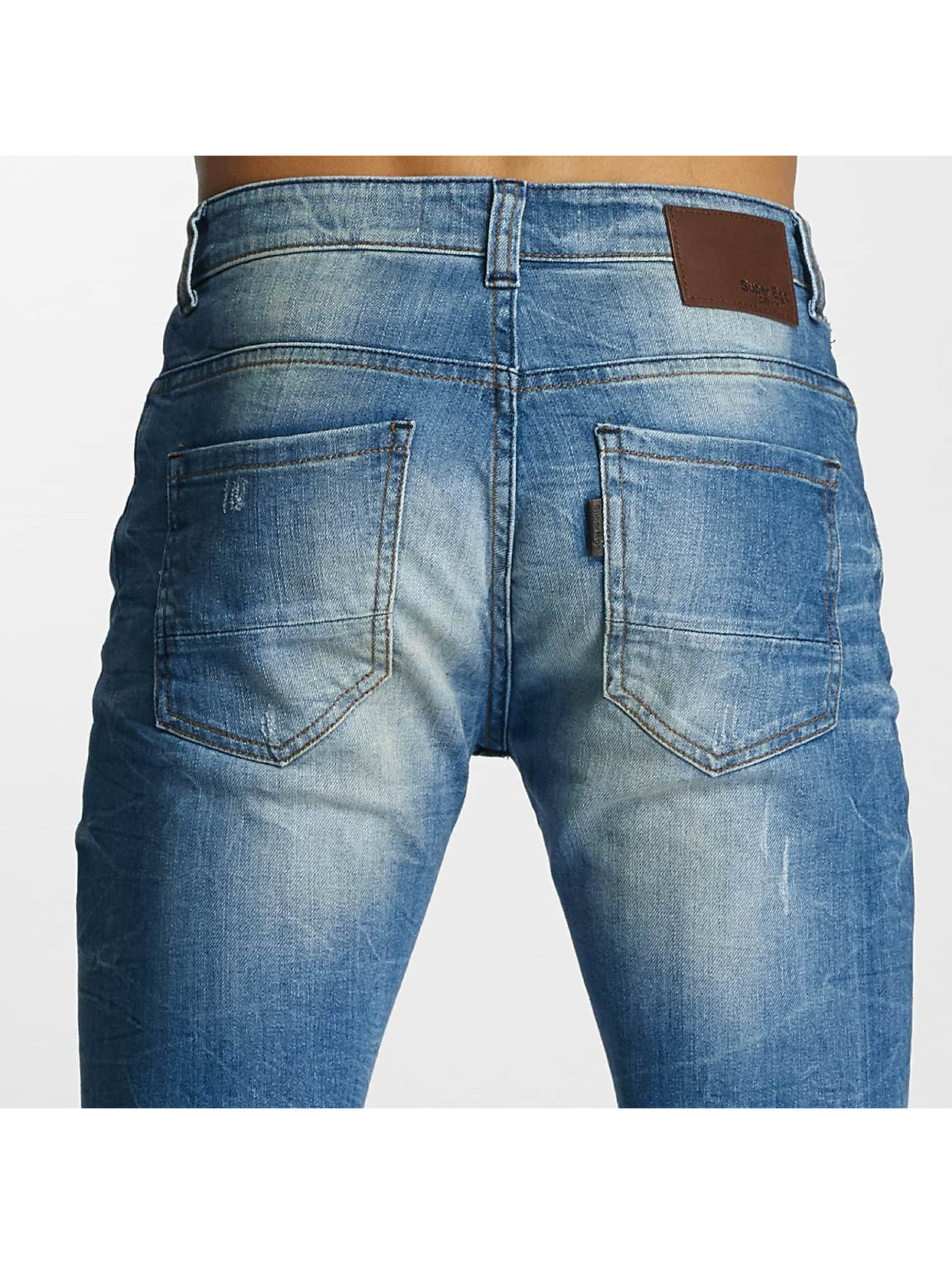 Paris Premium Straight Fit Jeans Dirt blå