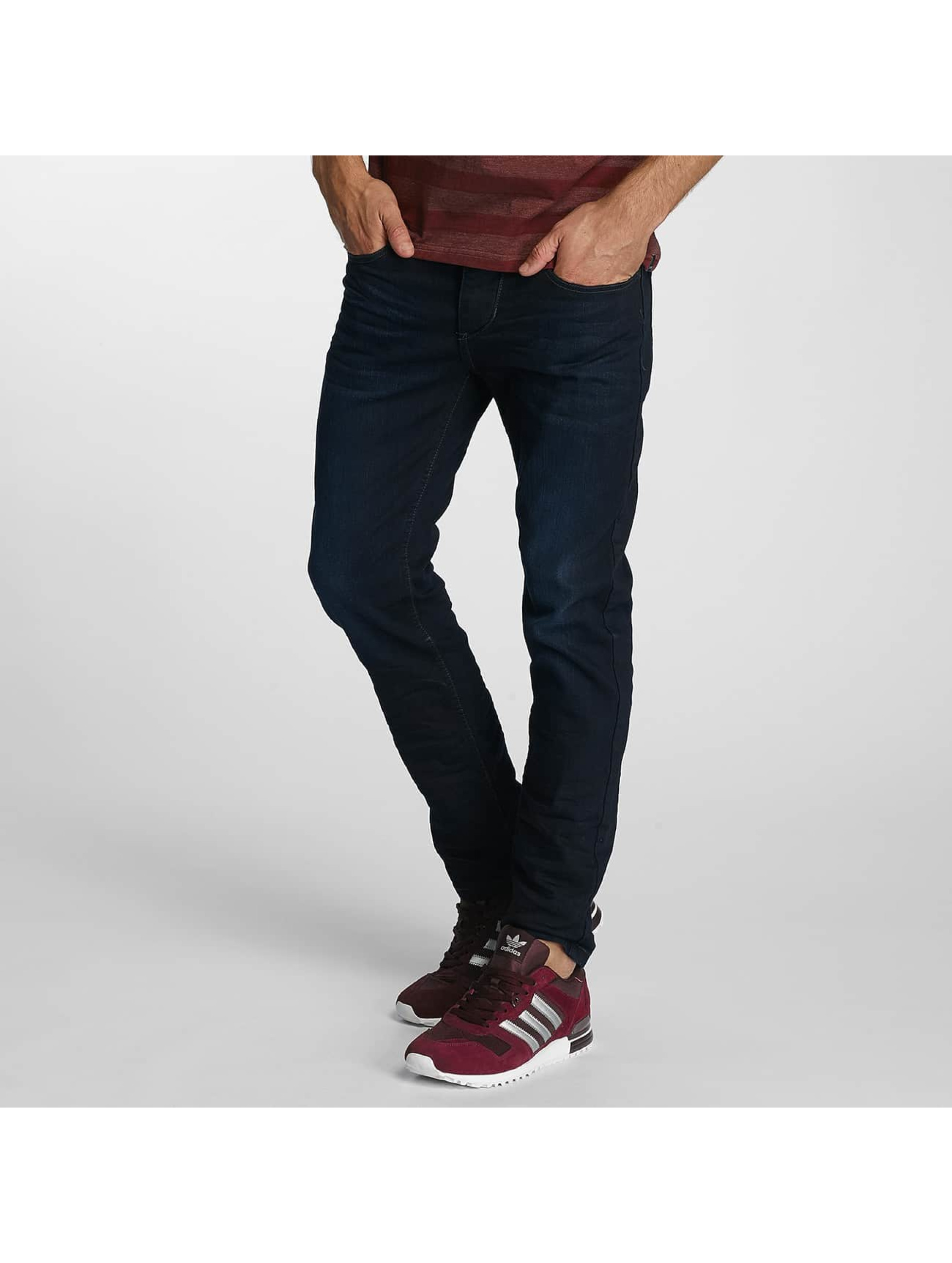 Paris Premium Straight fit jeans Lucifer blauw