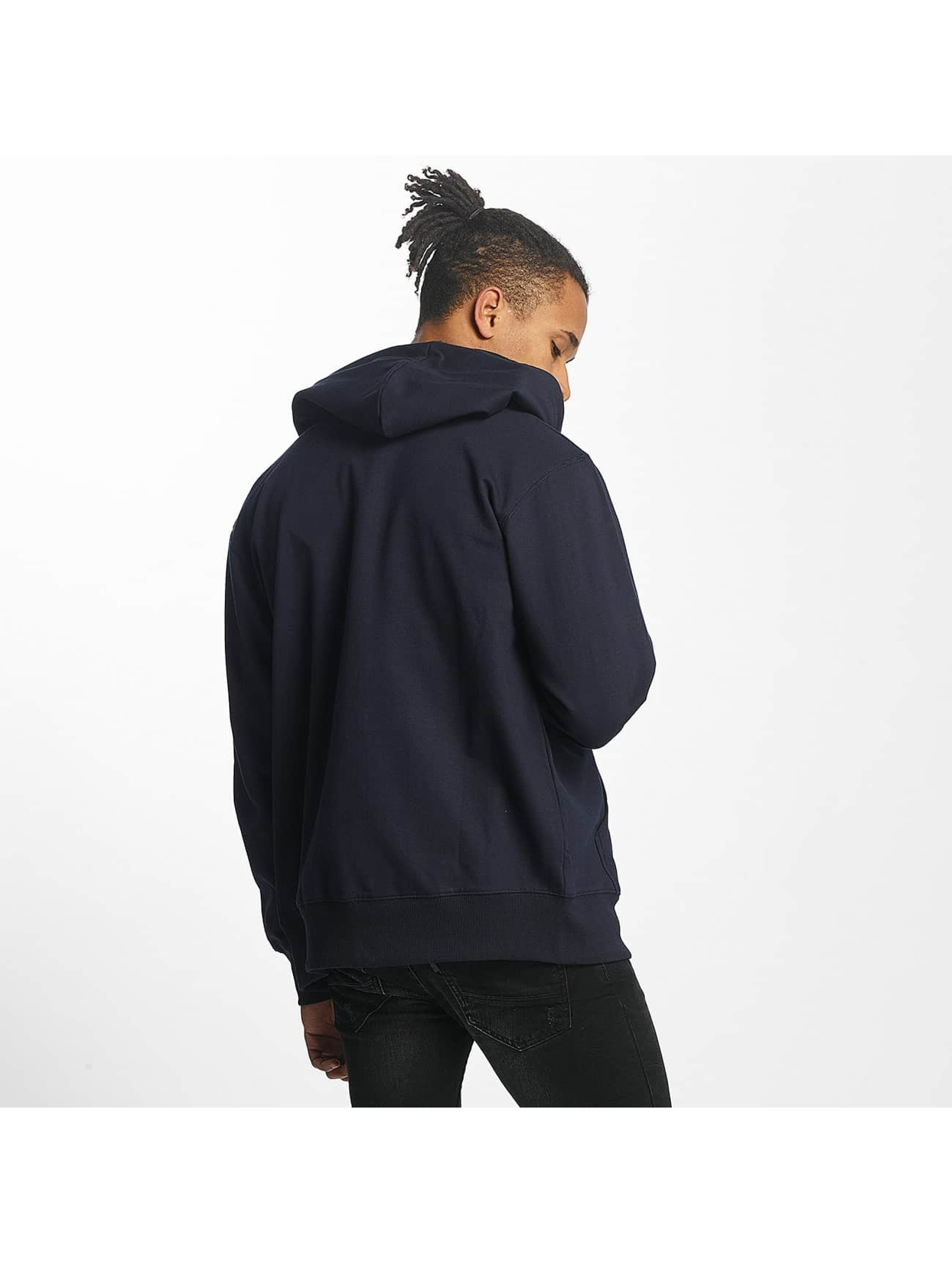 Paris Premium Sweat capuche zippé Basic bleu