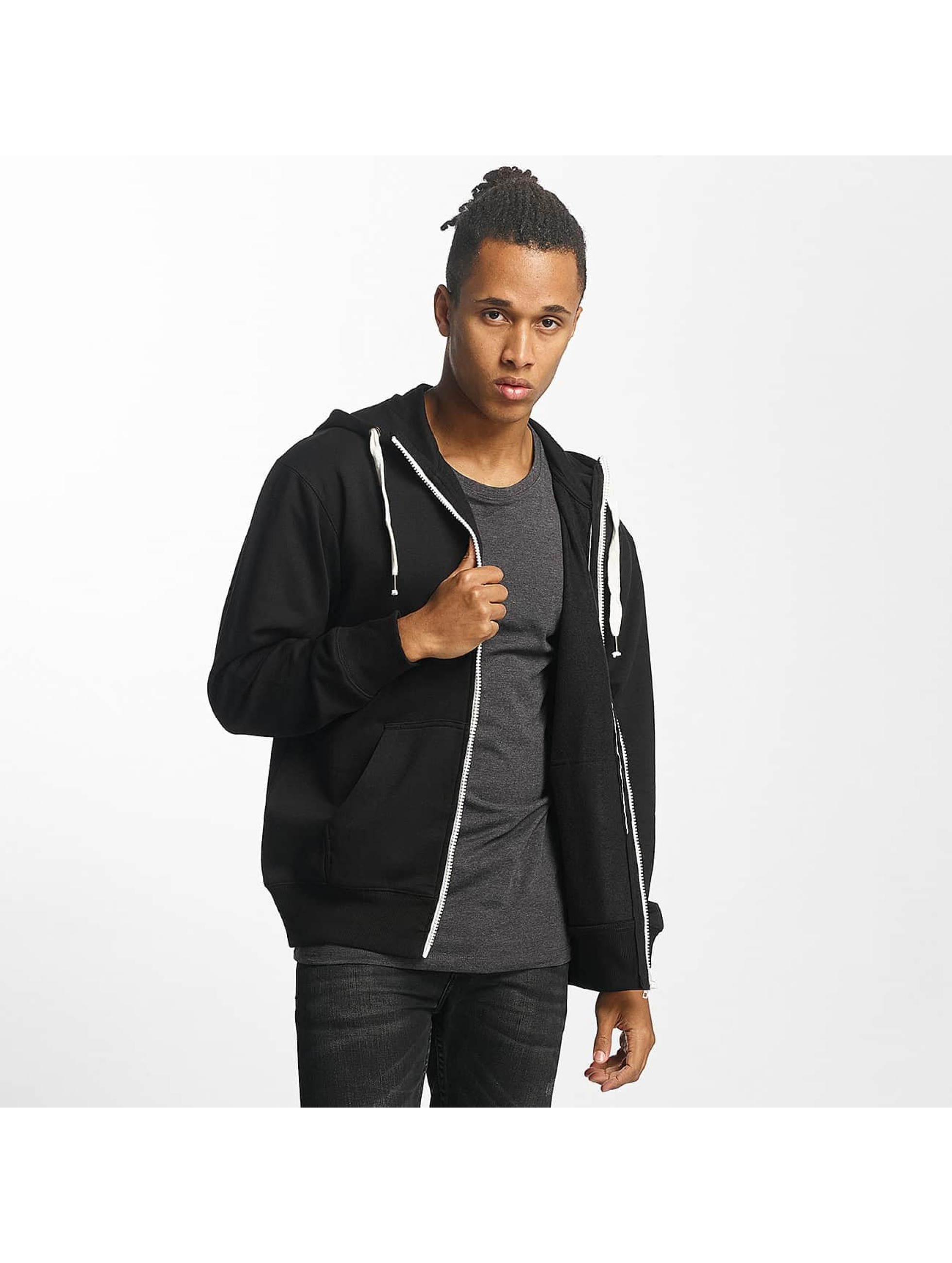 Paris Premium Sweat capuche zippé Basic noir
