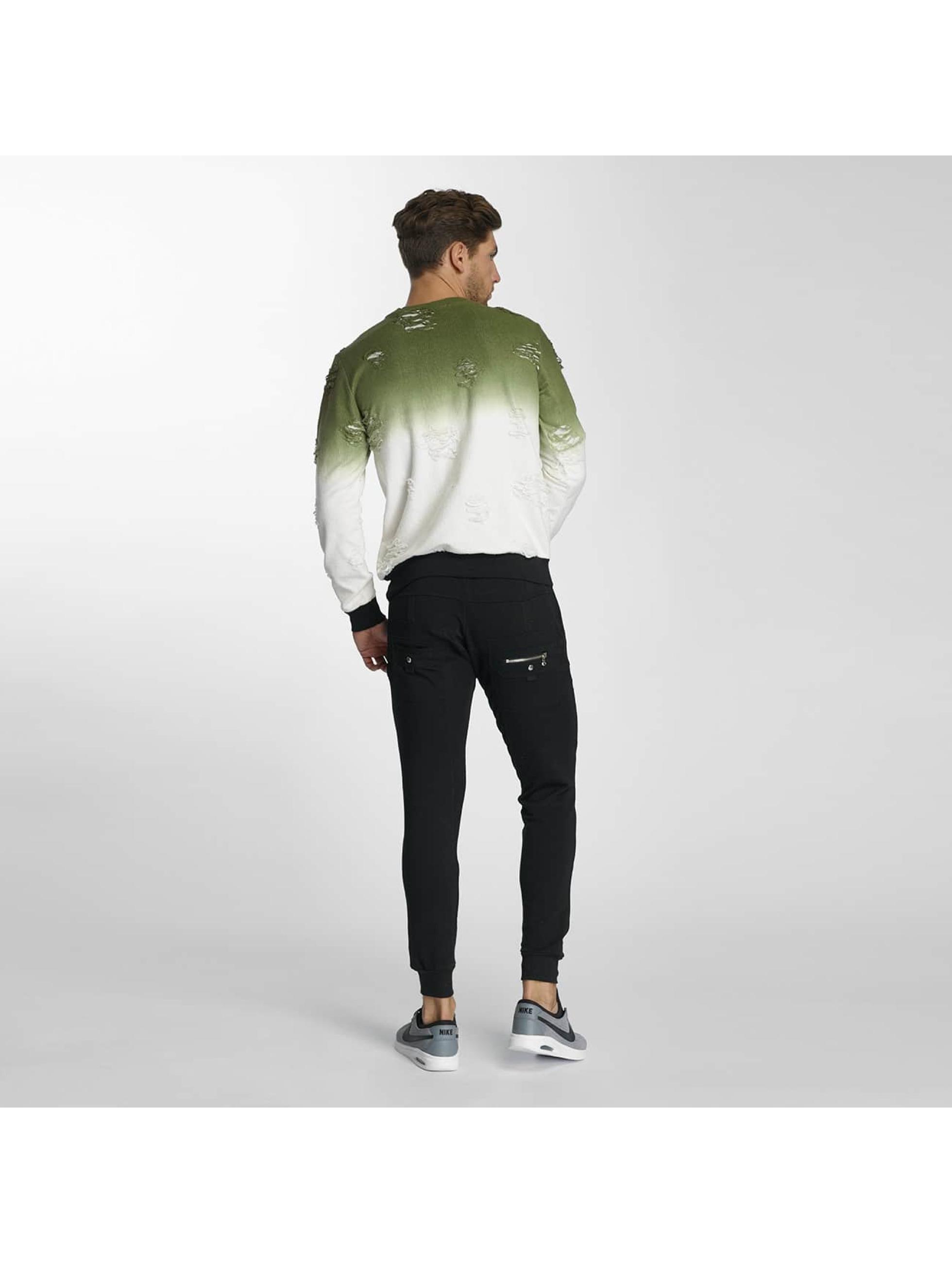 Paris Premium Swetry Two Tone zielony