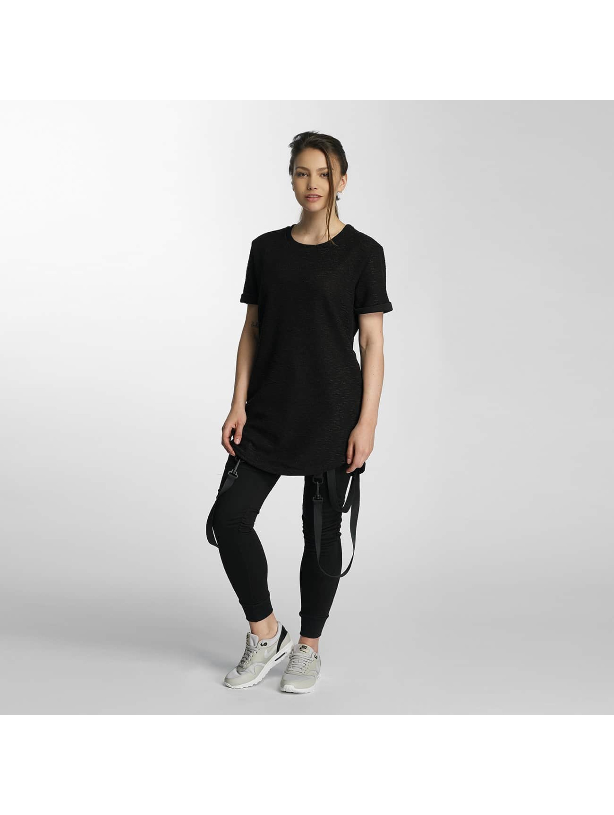 Paris Premium T-shirt long oversize Knit noir