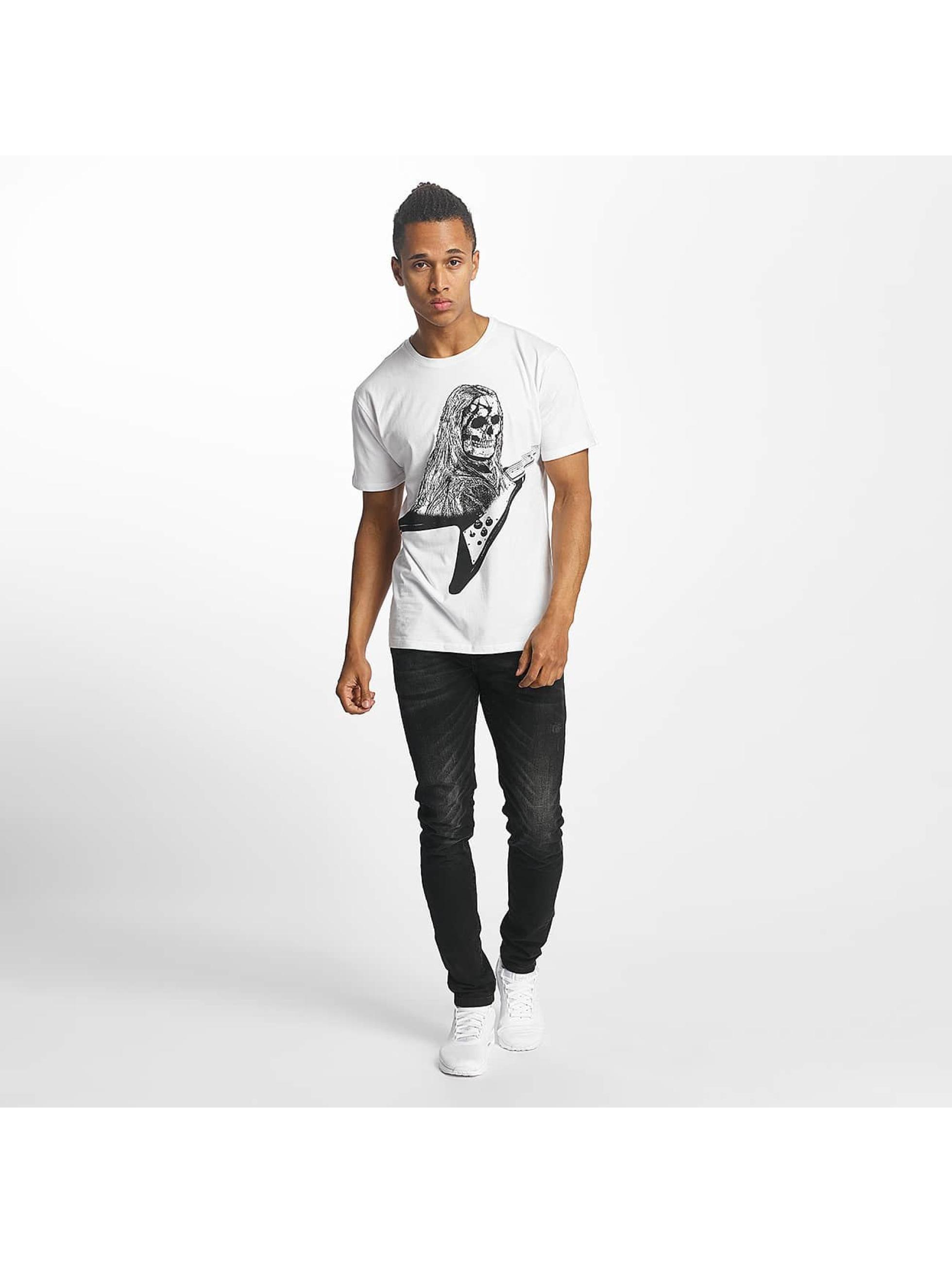 Paris Premium T-Shirty Rockin' Skull bialy
