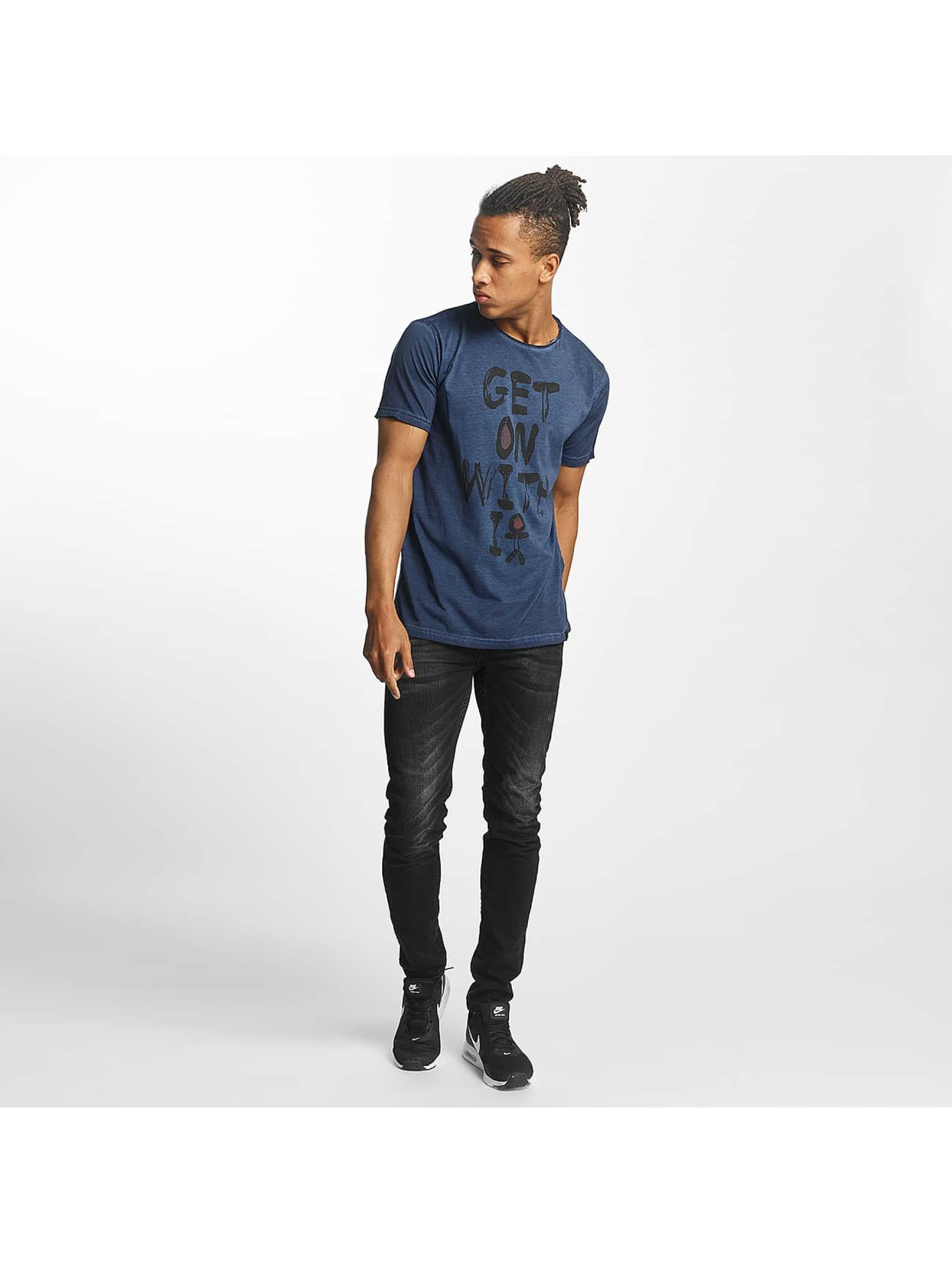 Paris Premium T-Shirty Get on with it niebieski