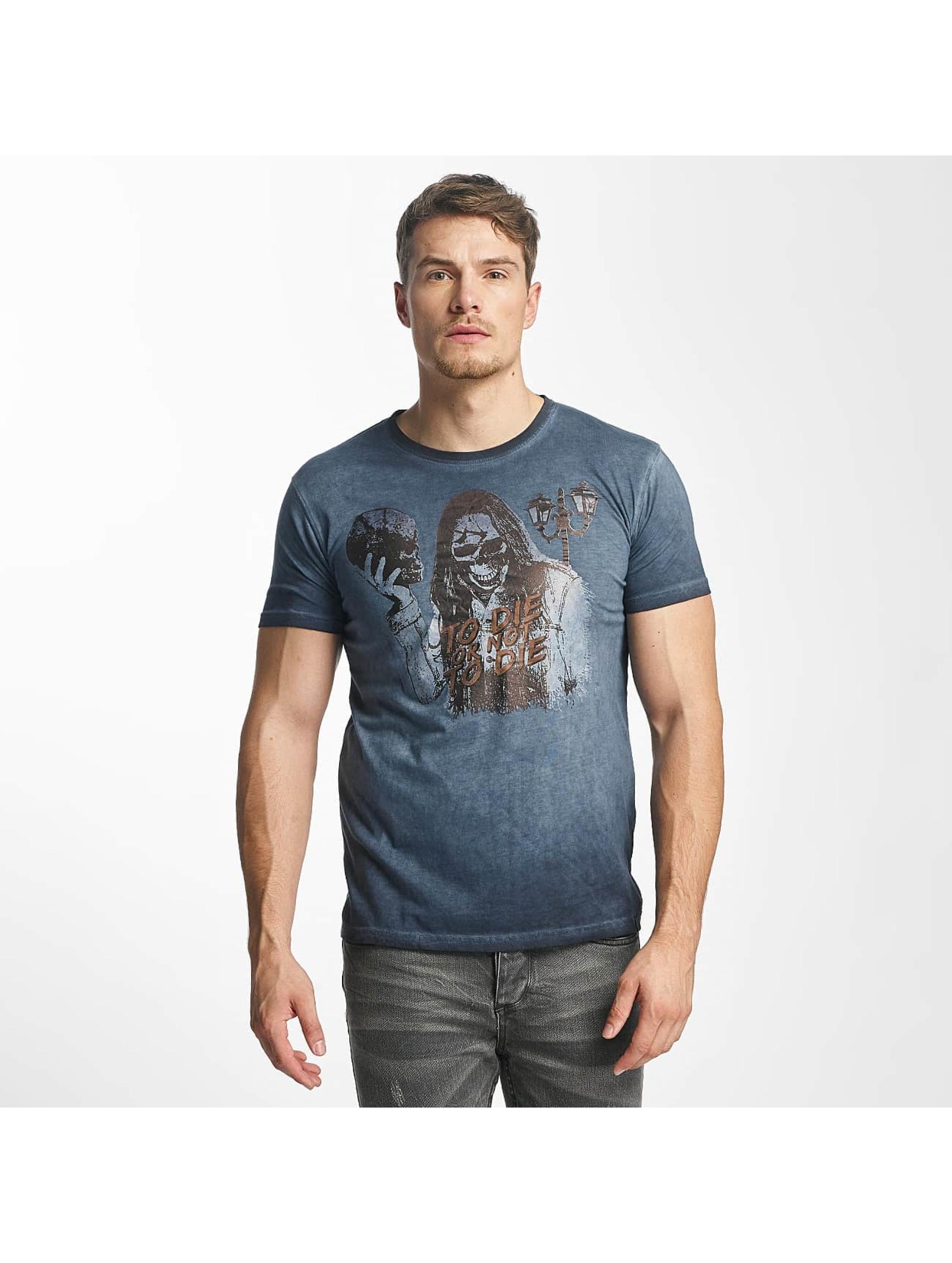 Paris Premium T-Shirty To Die or not to Die niebieski