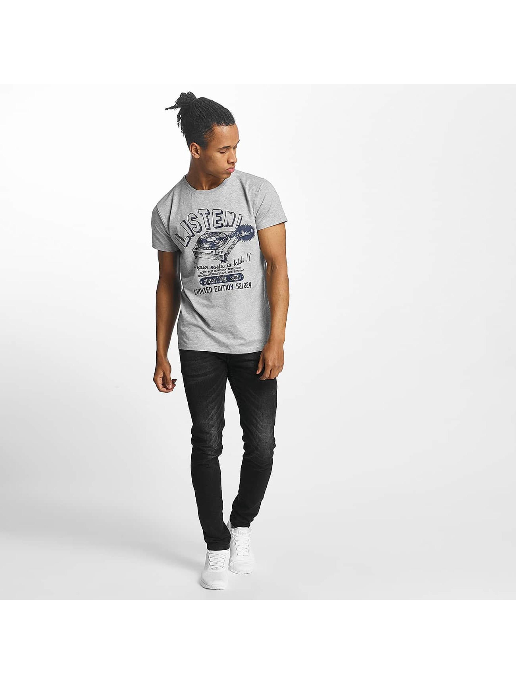 Paris Premium T-Shirty Listen! szary