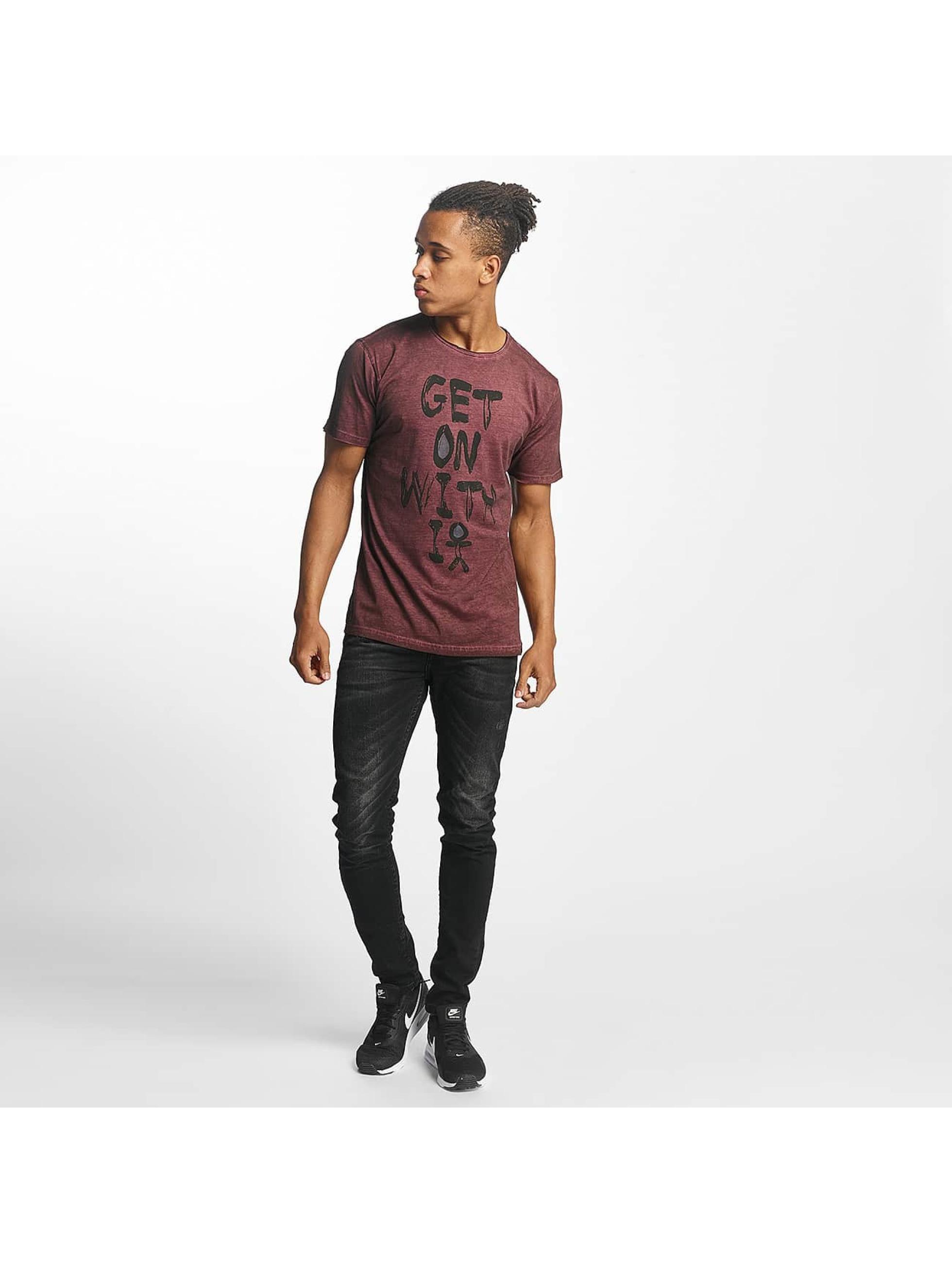 Paris Premium T-skjorter Get on with it red