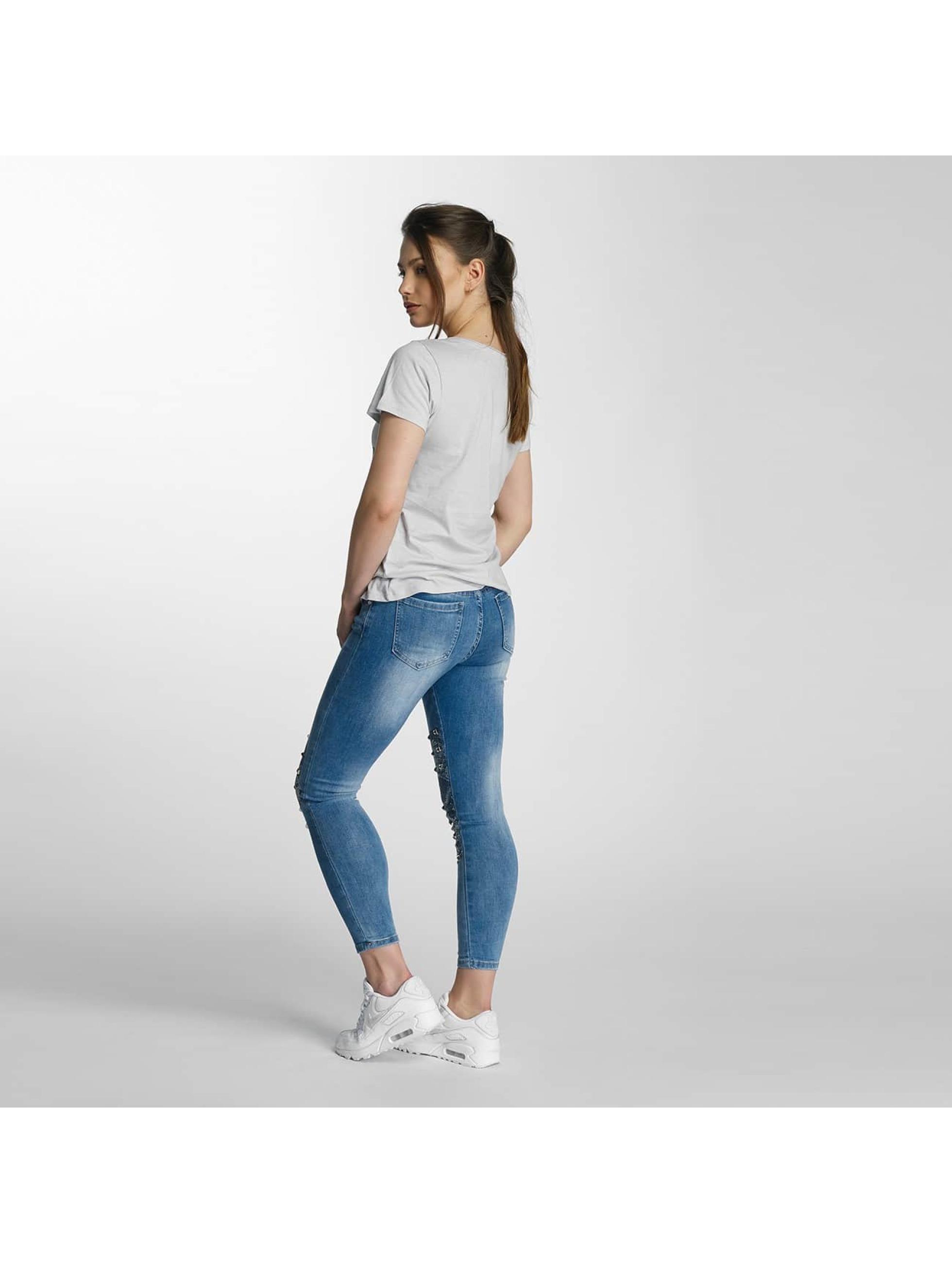 Paris Premium Tynne bukser Denim blå