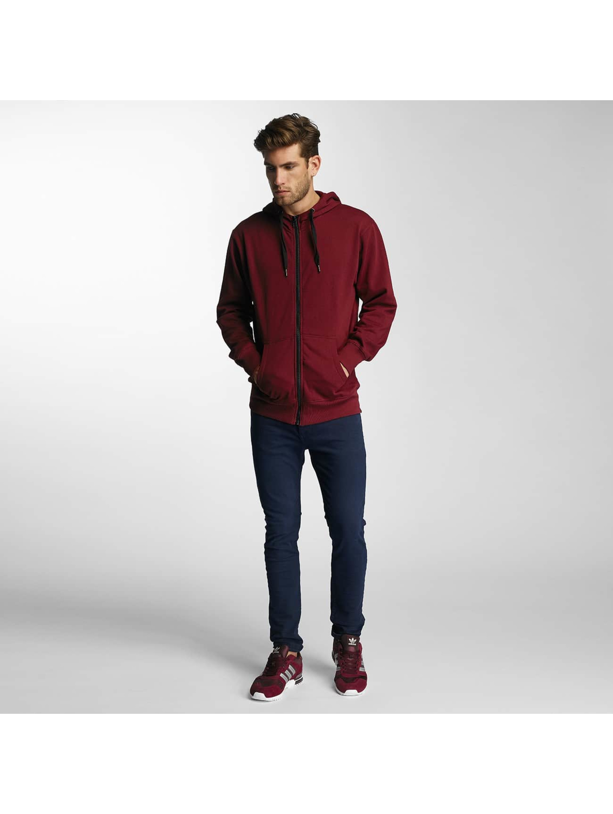 Paris Premium Zip Hoodie Town House red