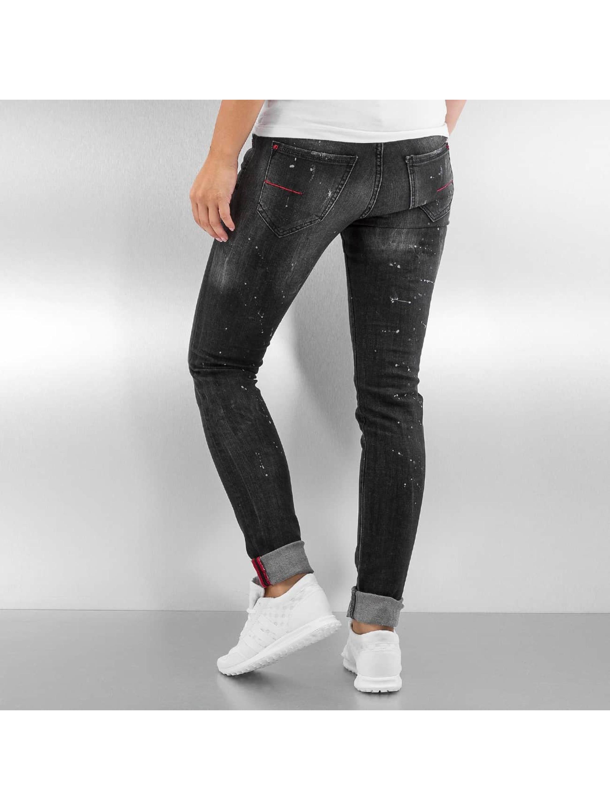 Pascucci Skinny Jeans B-Cat schwarz
