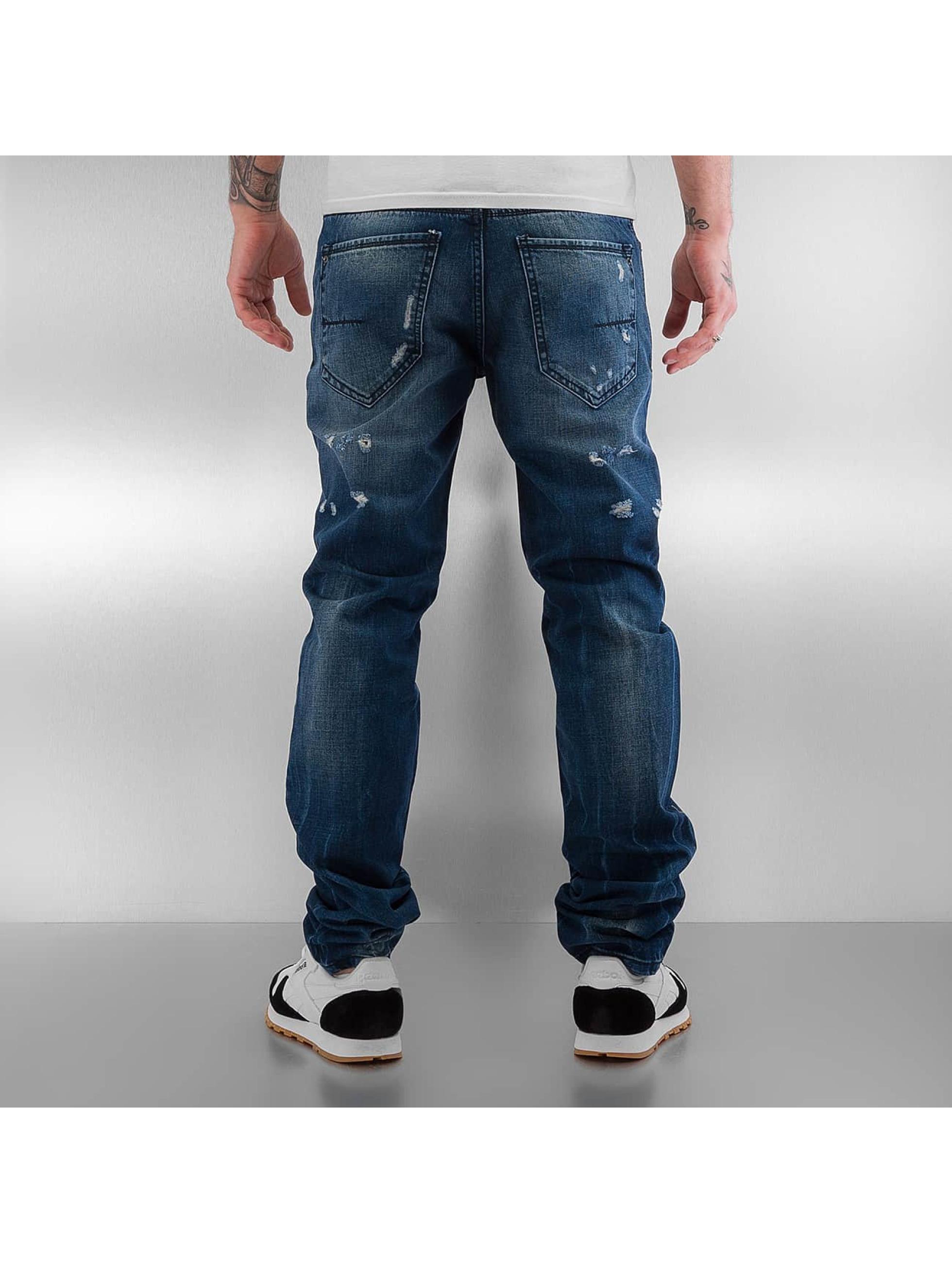Pascucci Straight Fit Jeans Monk blå