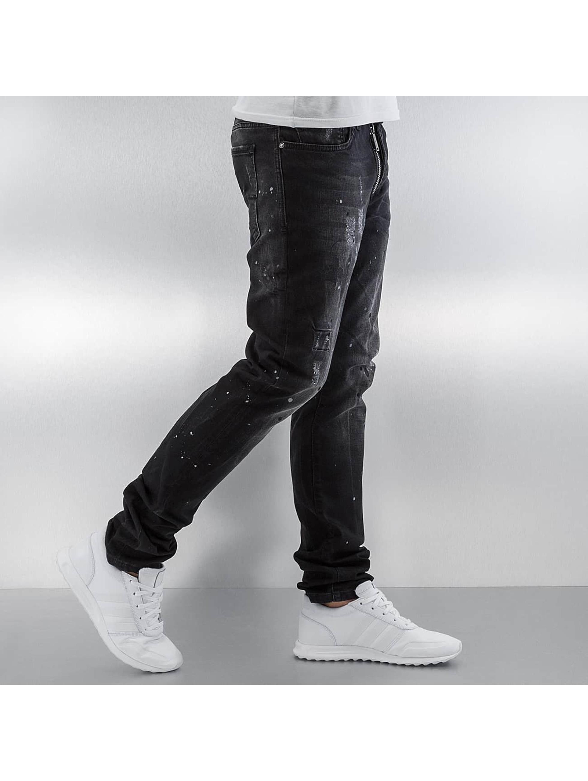 Pascucci Straight Fit Jeans Patt black
