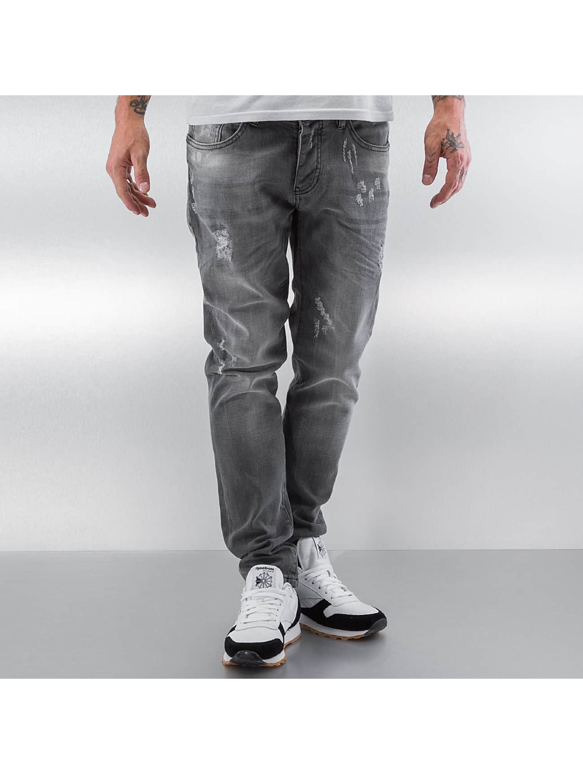 Pascucci Straight fit jeans Drop grijs