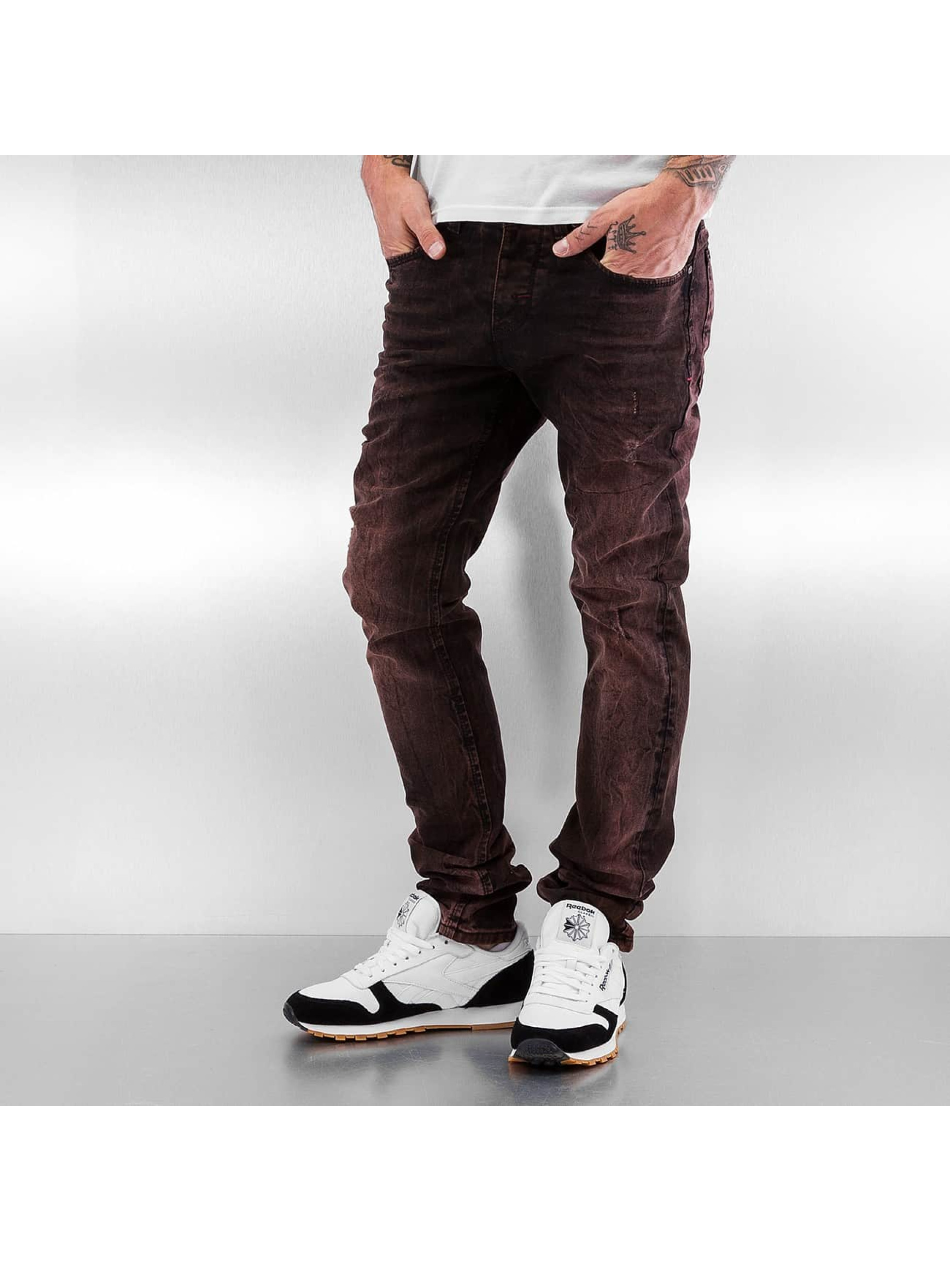 Pascucci Straight Fit Jeans Golo rot