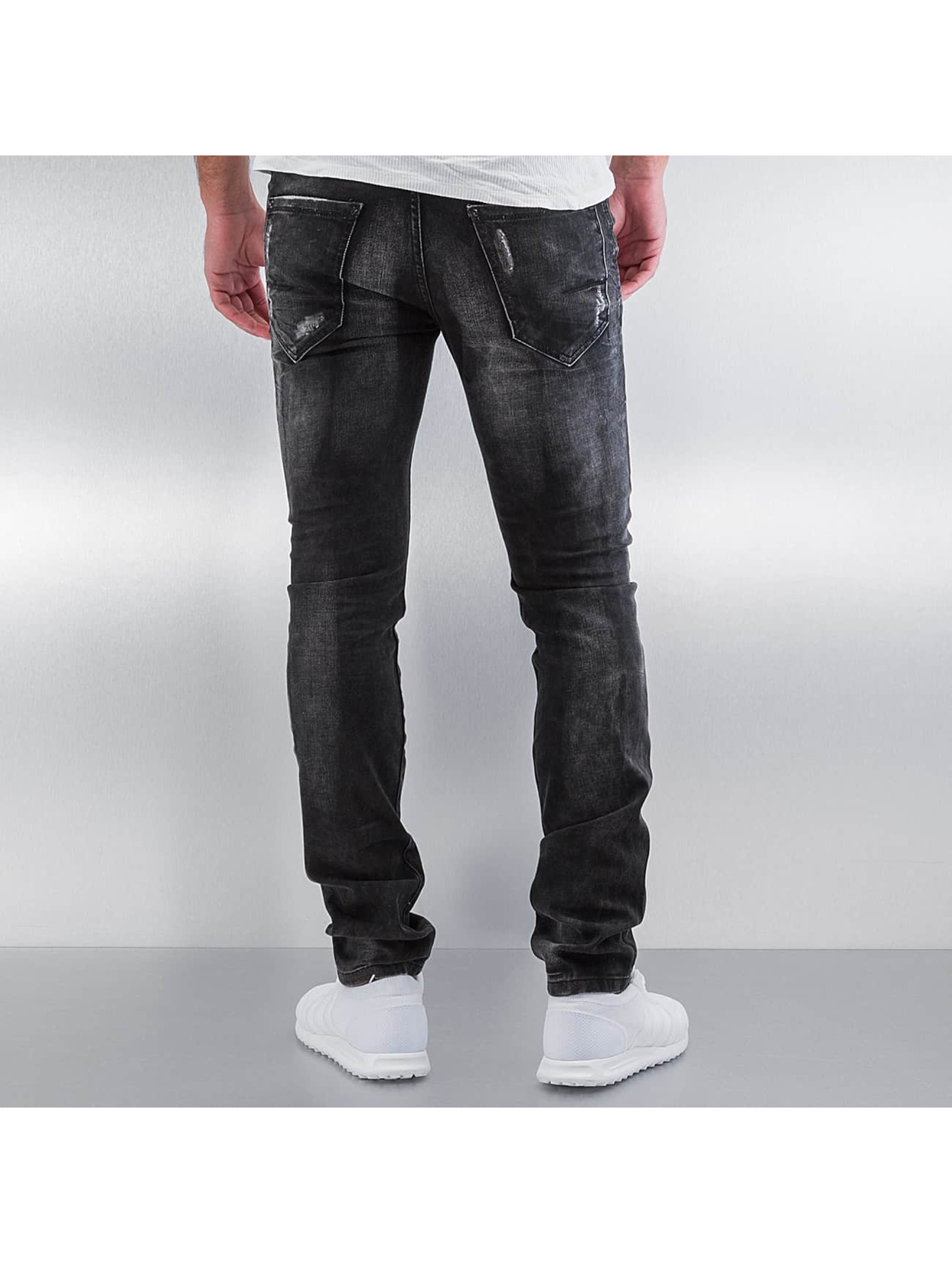 Pascucci Straight fit jeans Ascan zwart