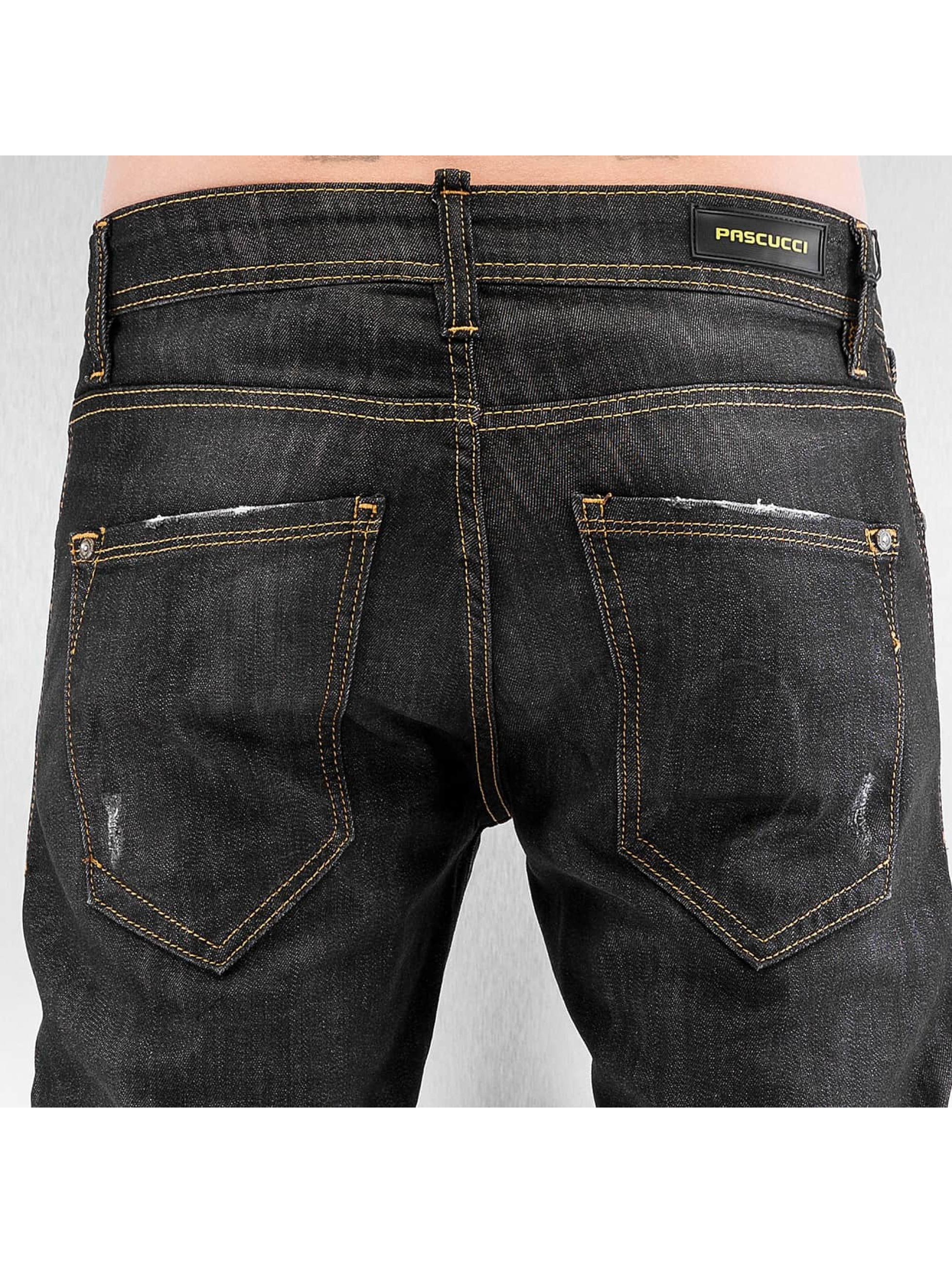 Pascucci Straight fit jeans Flora zwart