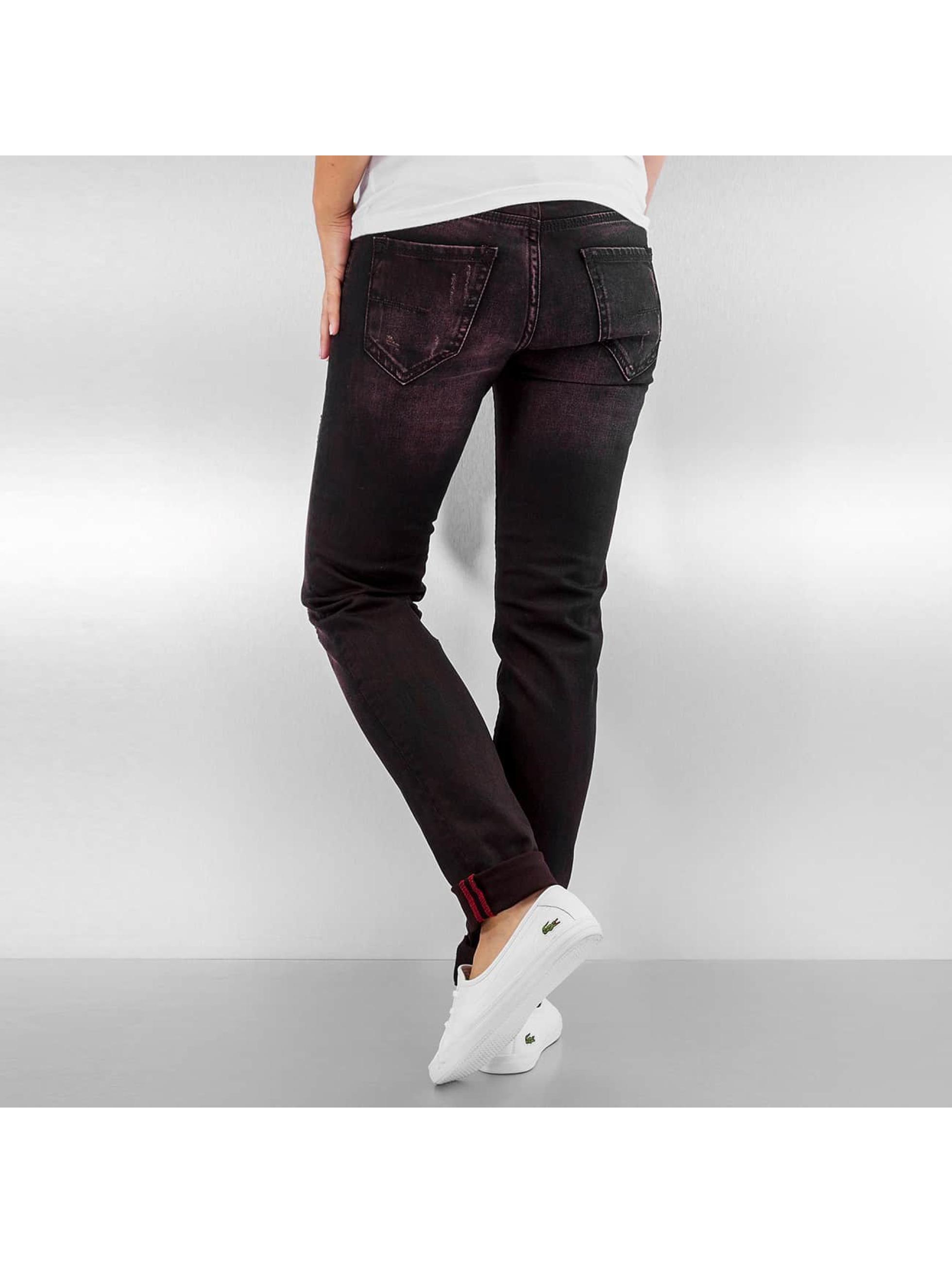 Pascucci Straight fit jeans B-Boro zwart