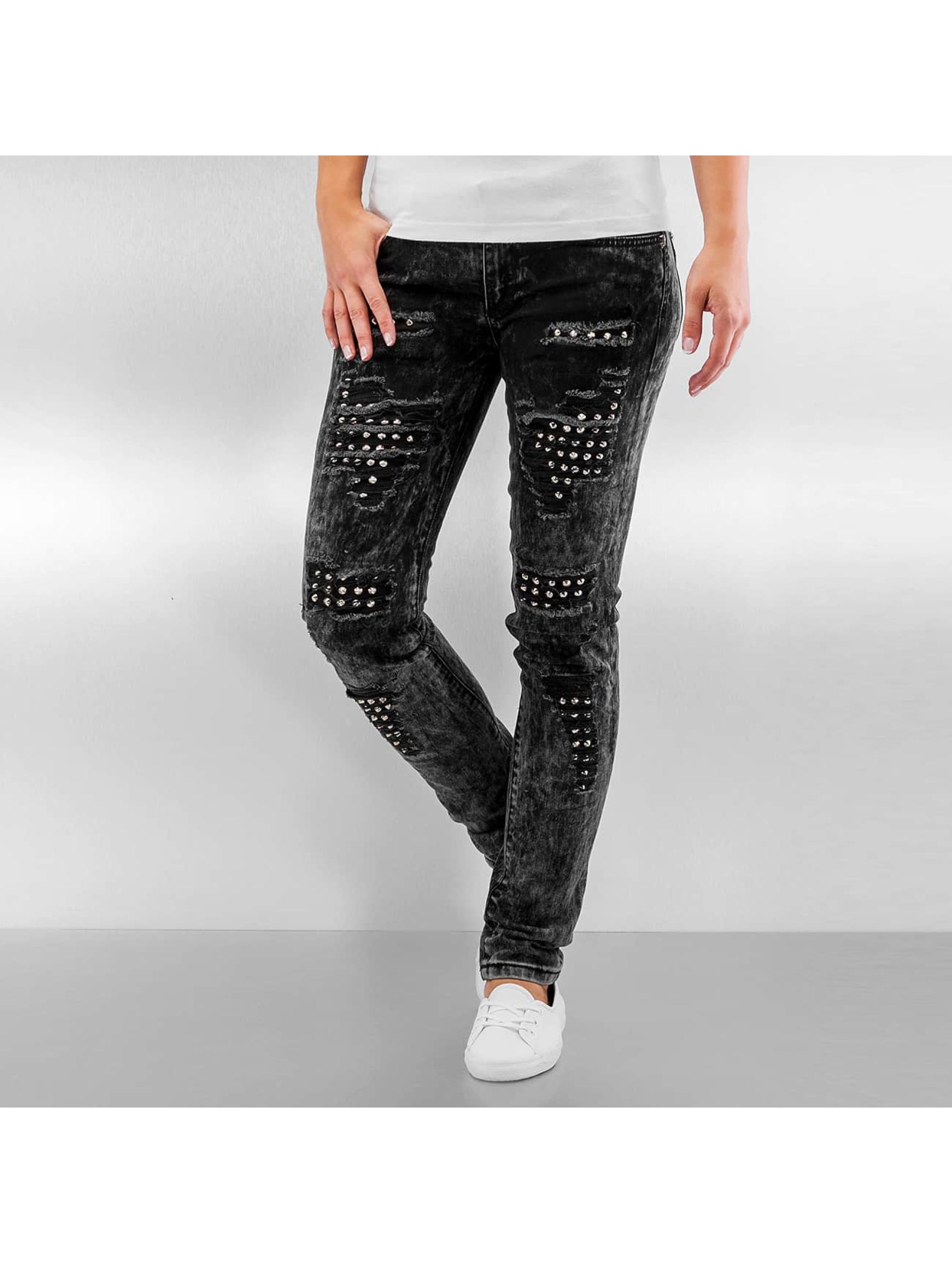 Pascucci Straight fit jeans B-Plip zwart