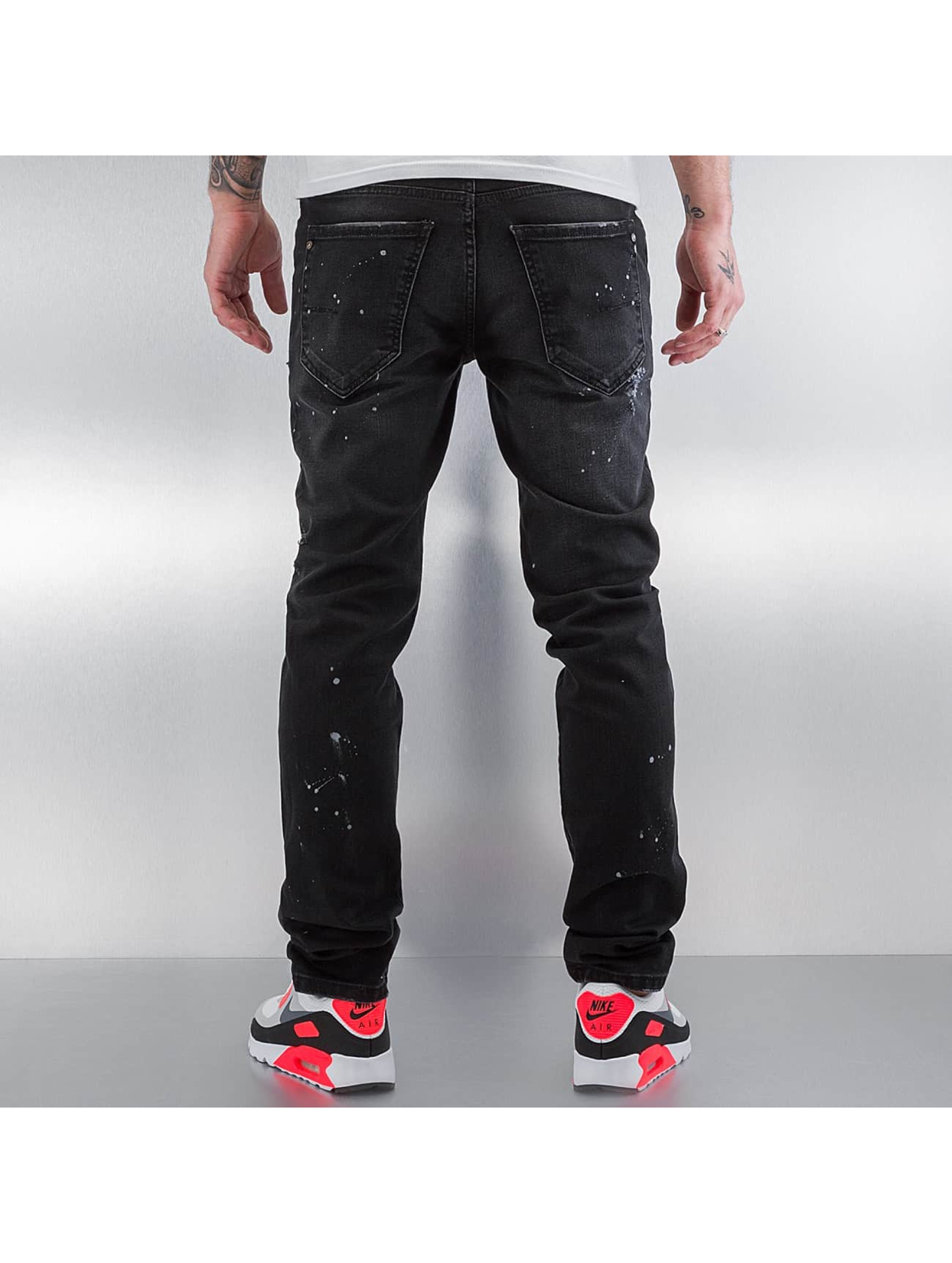 Pascucci Straight fit jeans Ferre zwart