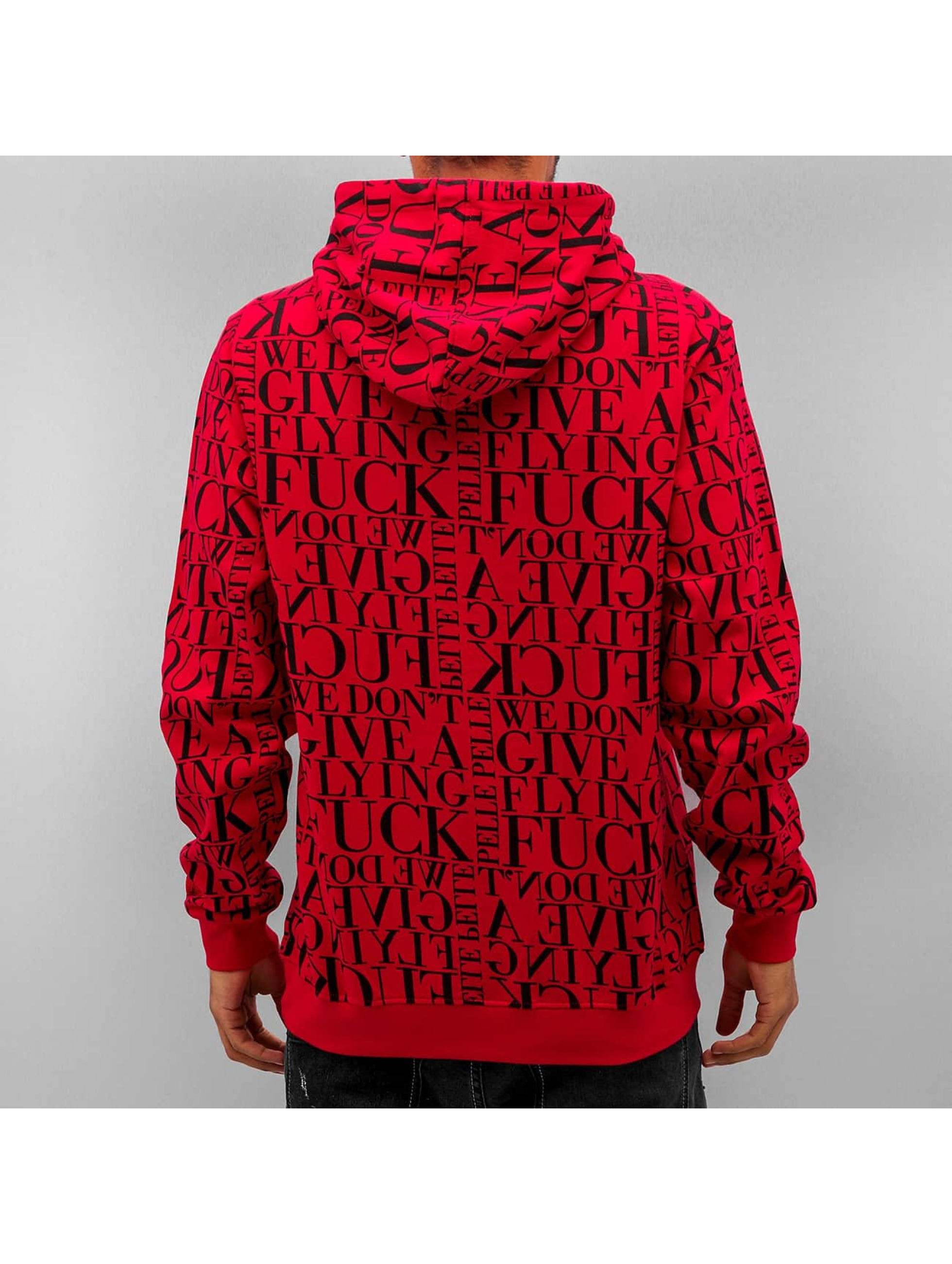 Pelle Pelle Bluzy z kapturem We Don't Give A * czerwony