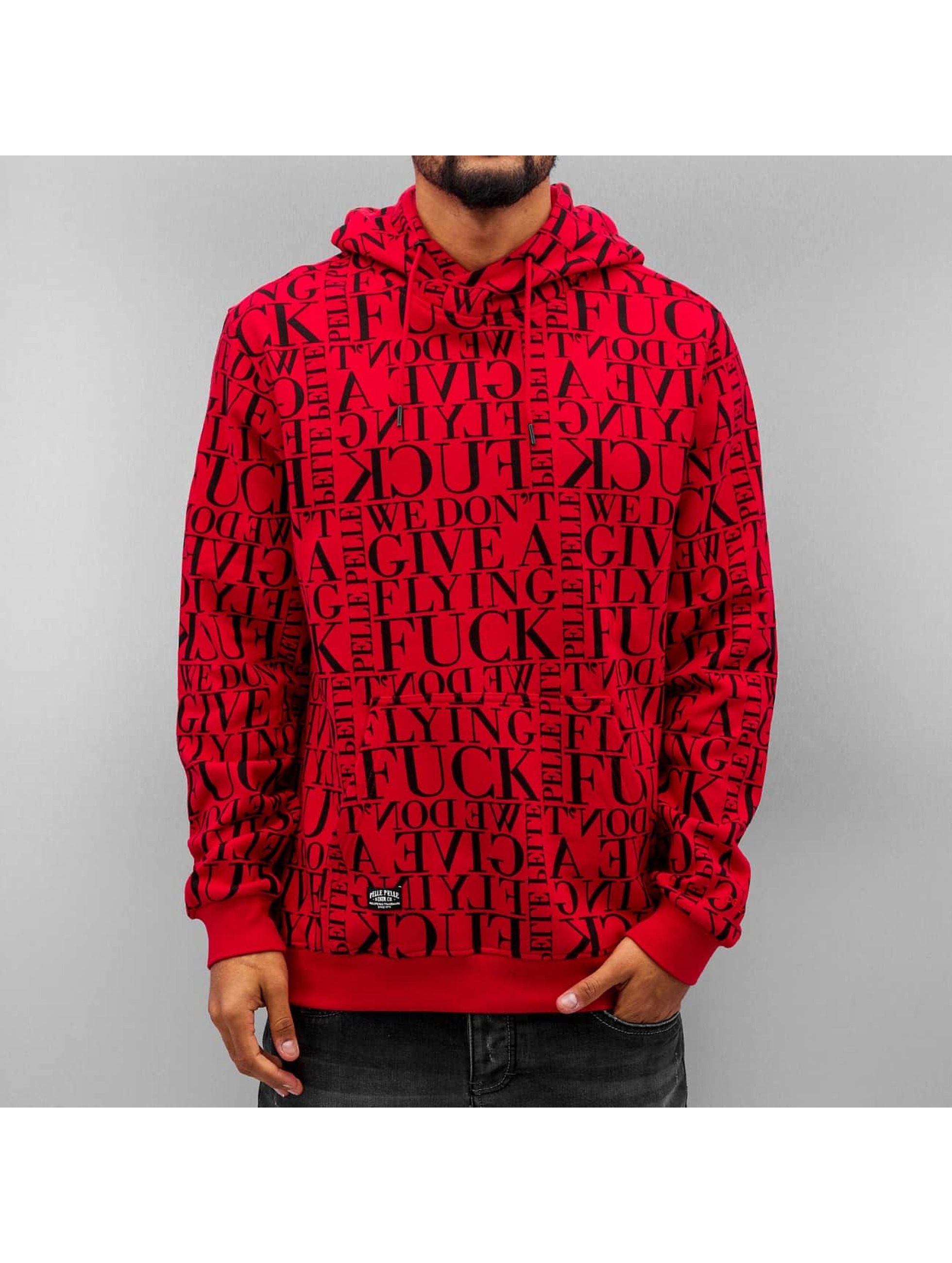 Pelle Pelle Hoodie We Don't Give A * red