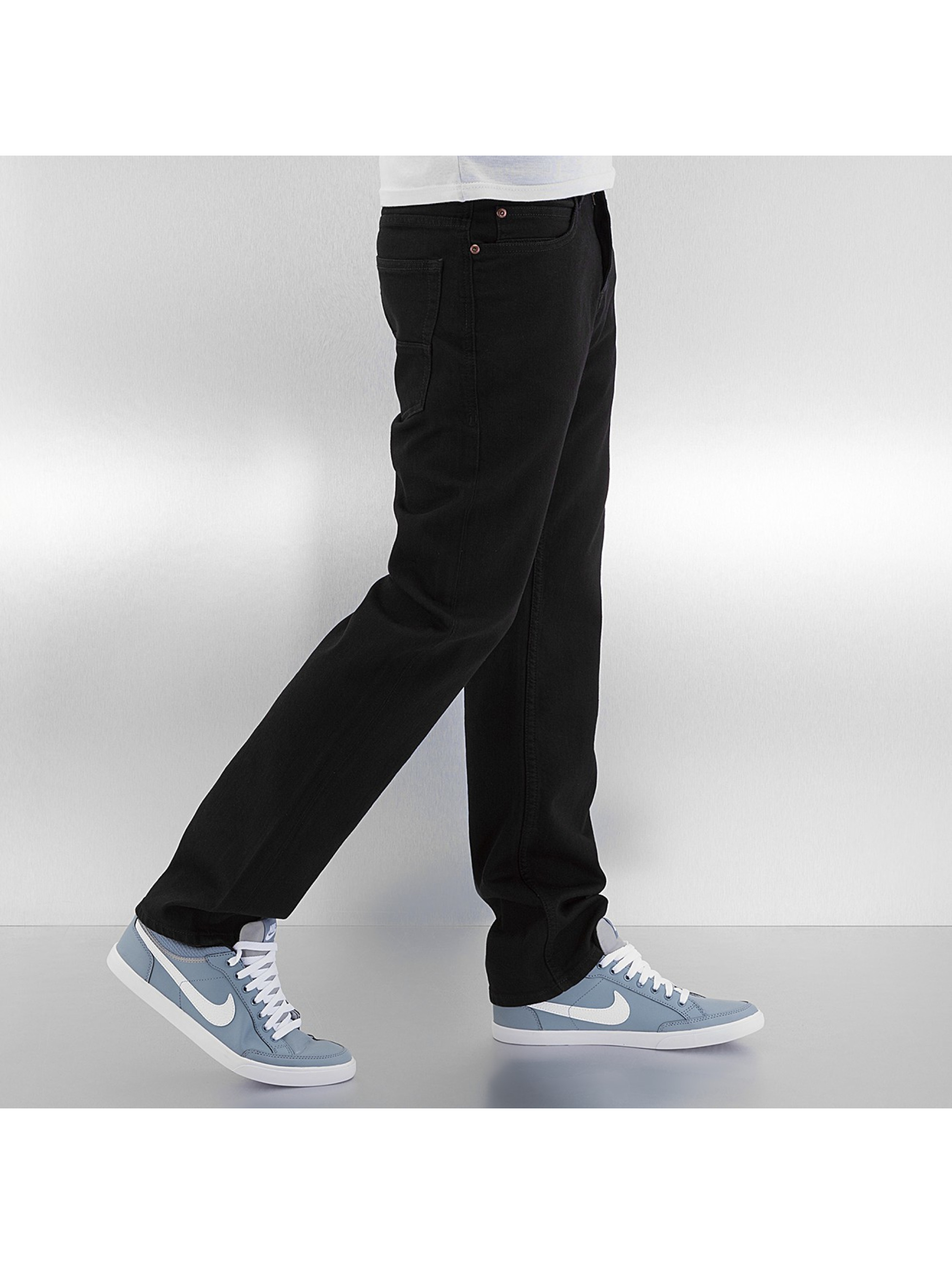 Pelle Pelle Loose Fit Jeans Baxter Denim schwarz