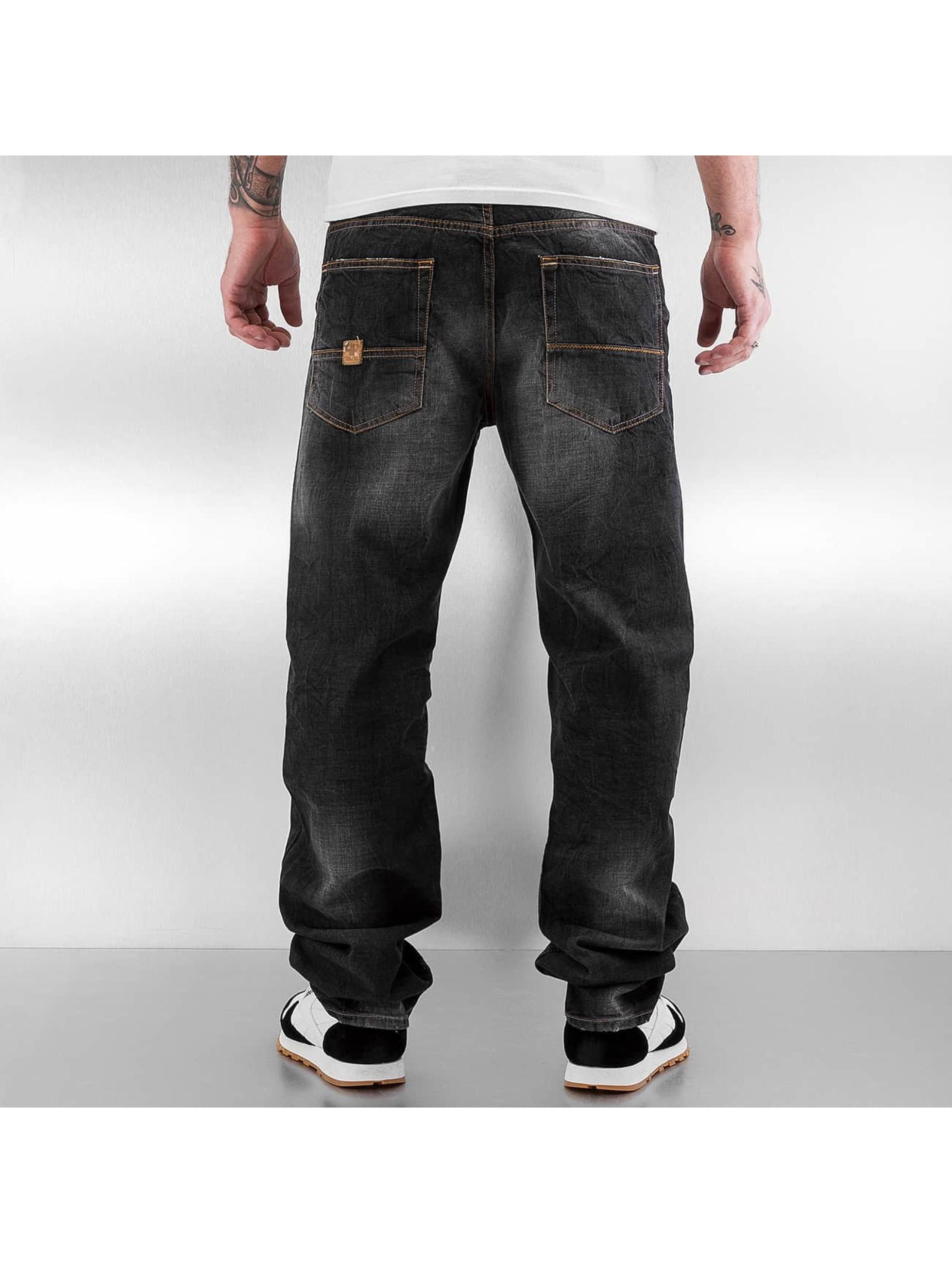 Pelle Pelle Loose fit jeans Baxter zwart