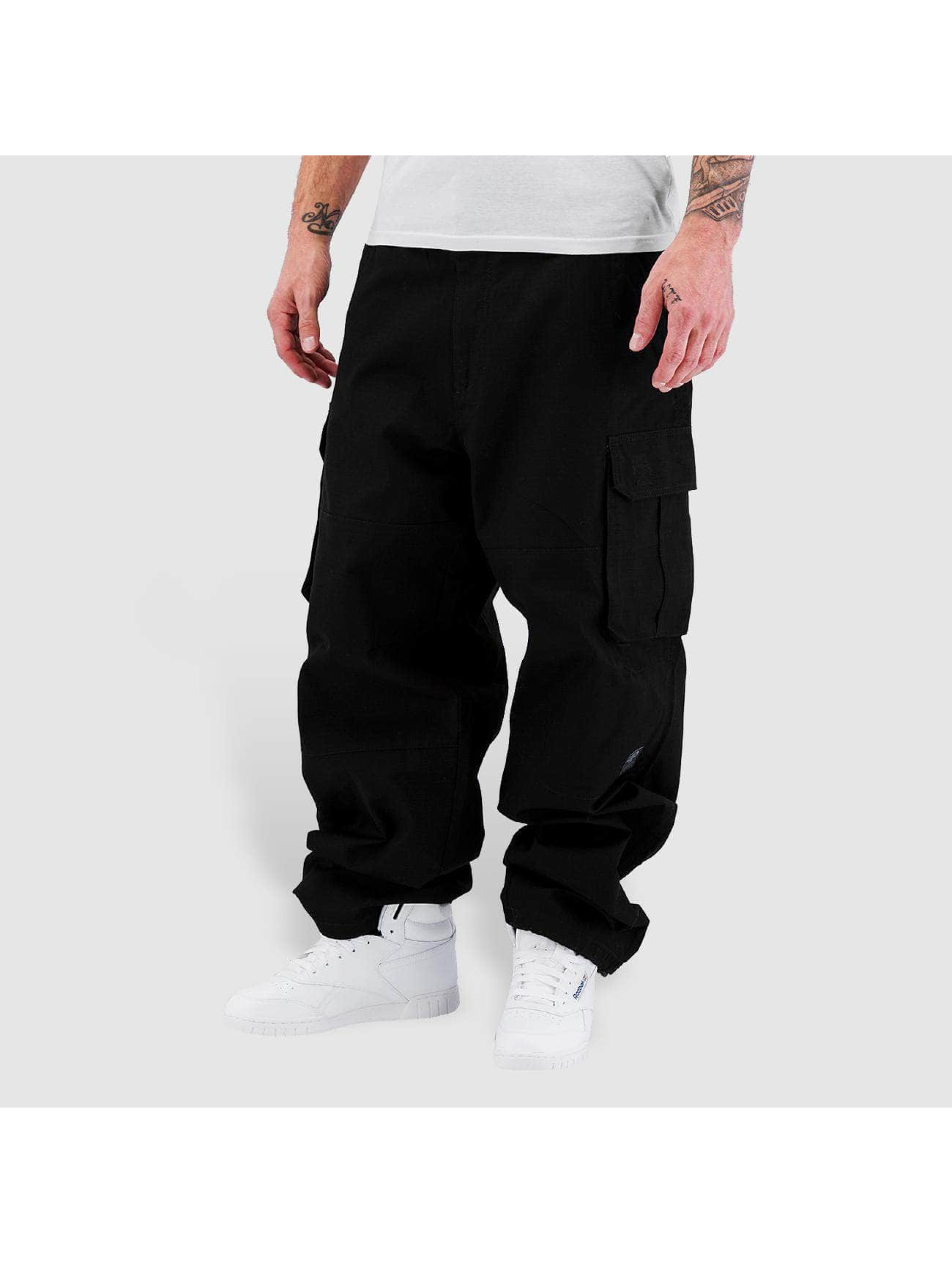 Pelle Pelle Pantalon cargo Basic noir