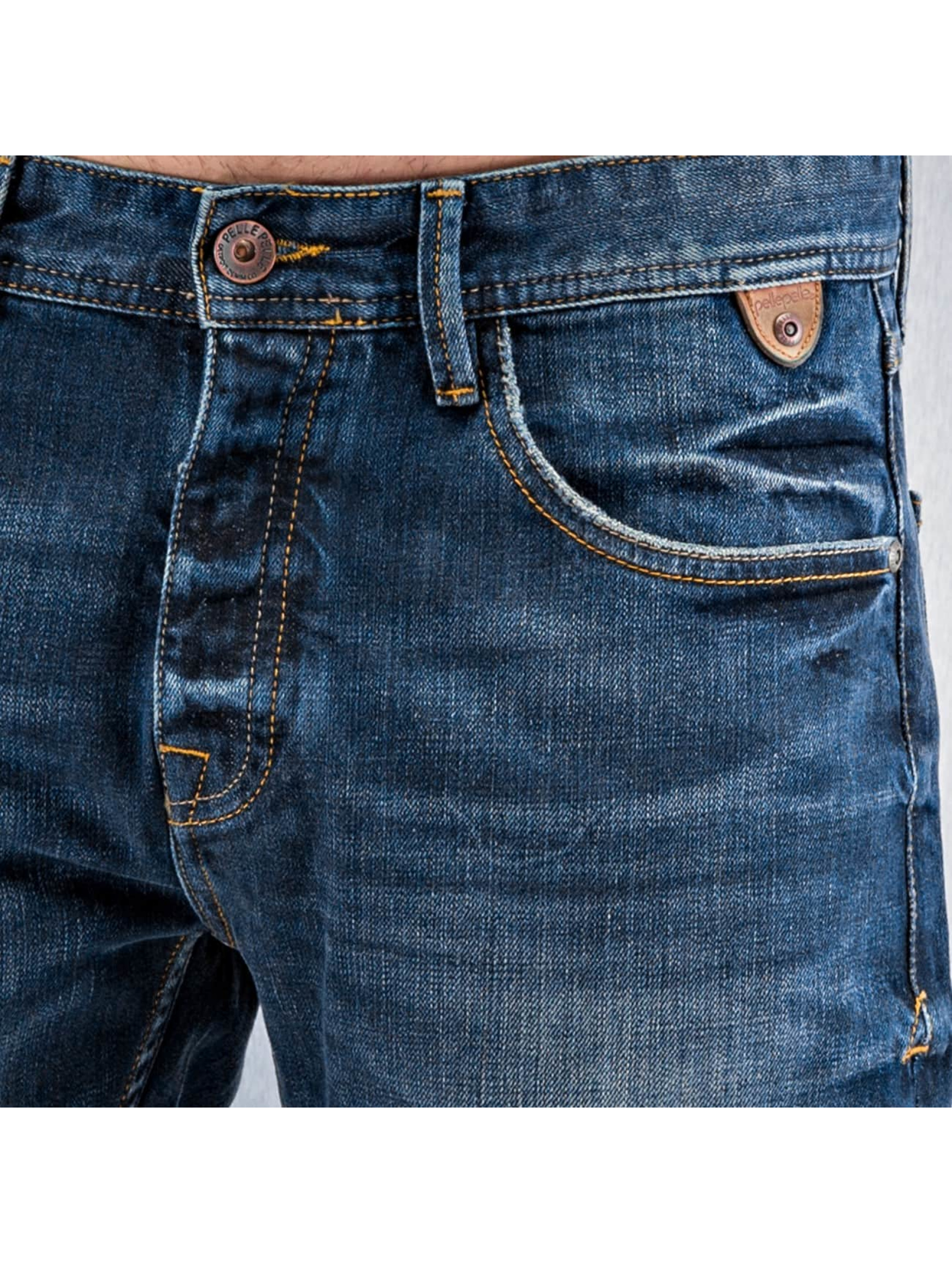 Pelle Pelle Straight Fit Jeans Scotty blau