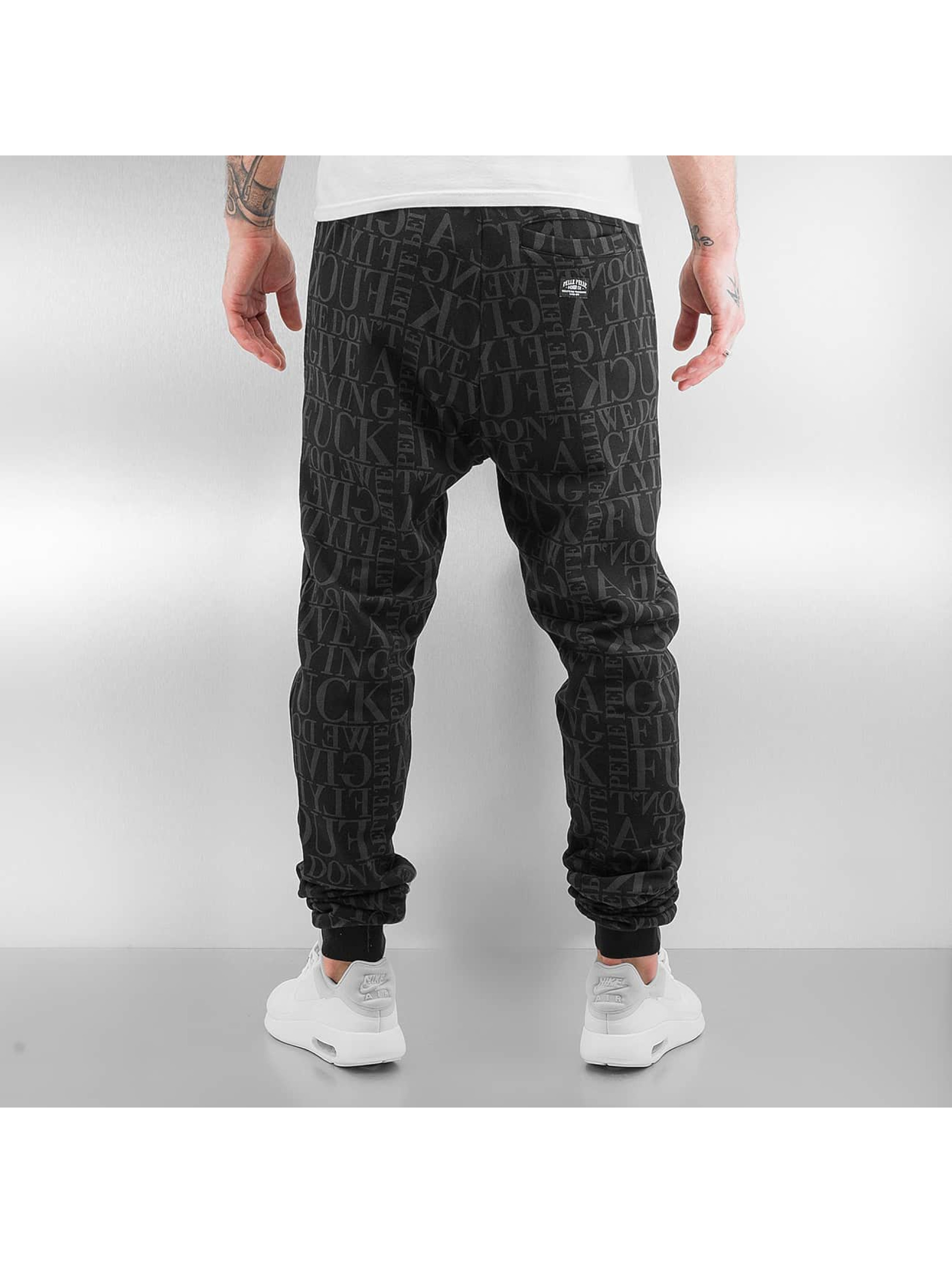 Pelle Pelle Sweat Pant We Don't Give A * black