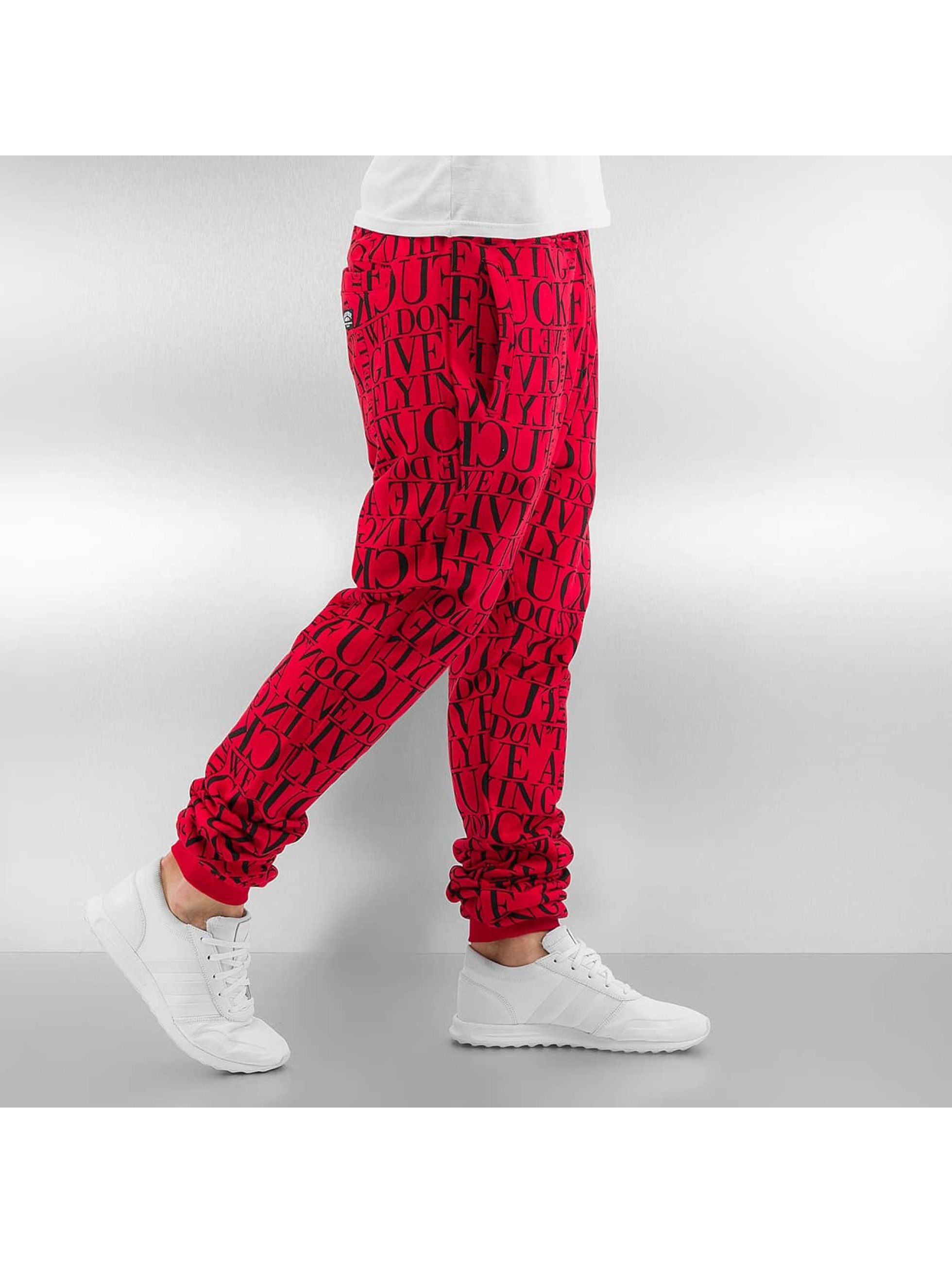 Pelle Pelle Sweat Pant We Don't Give A * red