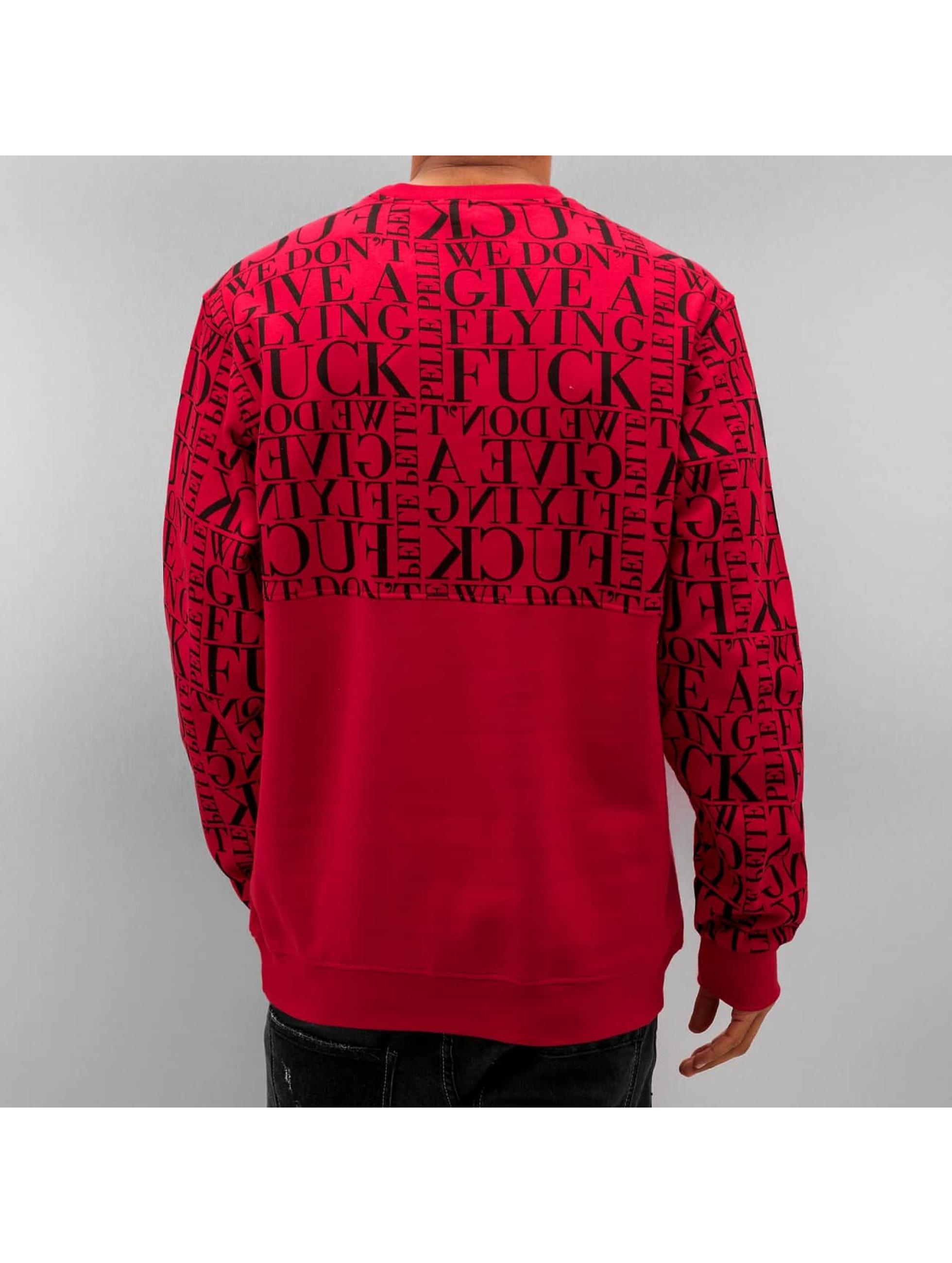 Pelle Pelle Swetry We Don't Give A * czerwony