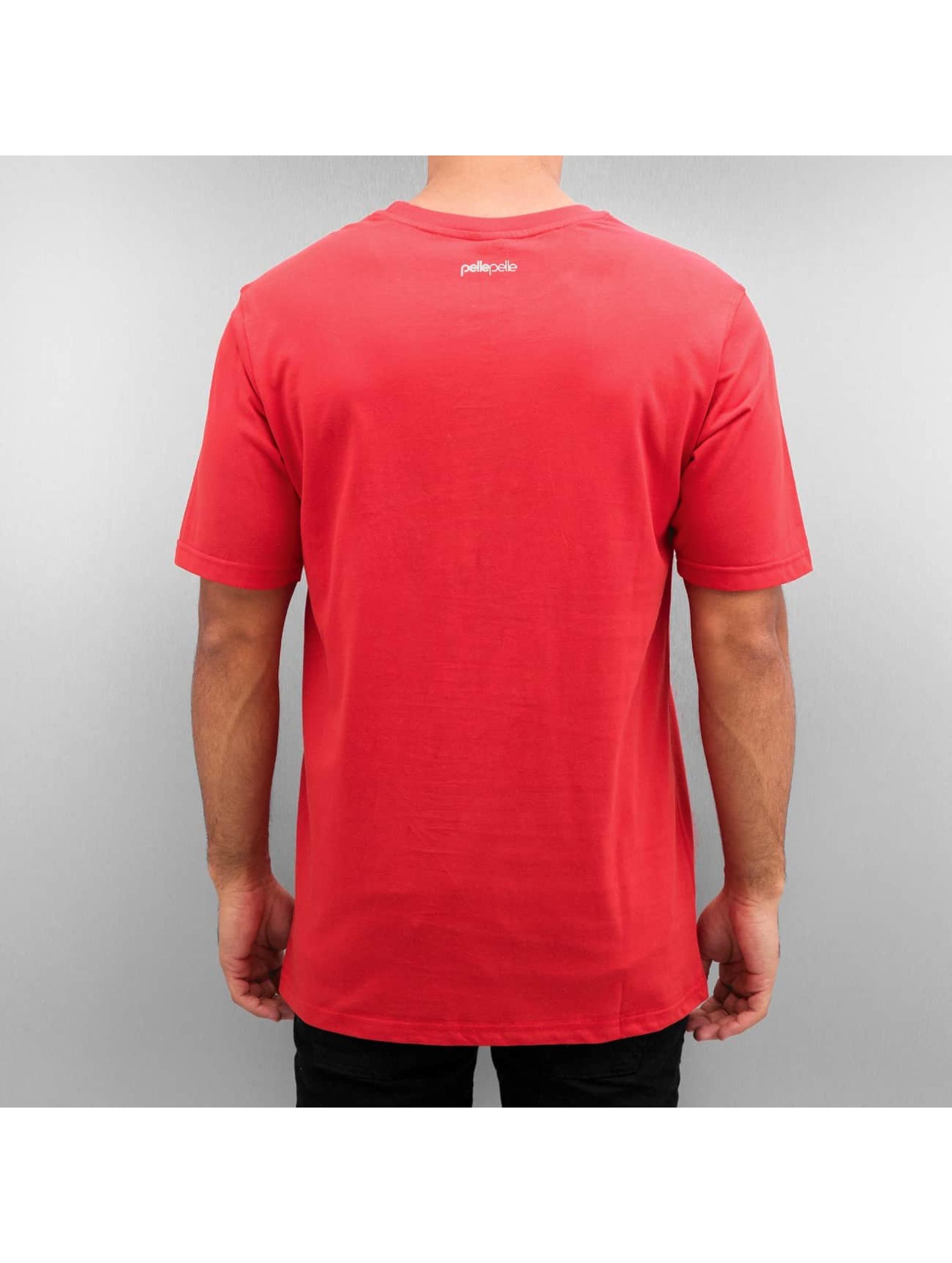 Pelle Pelle t-shirt 50/50 Dark Maze rood