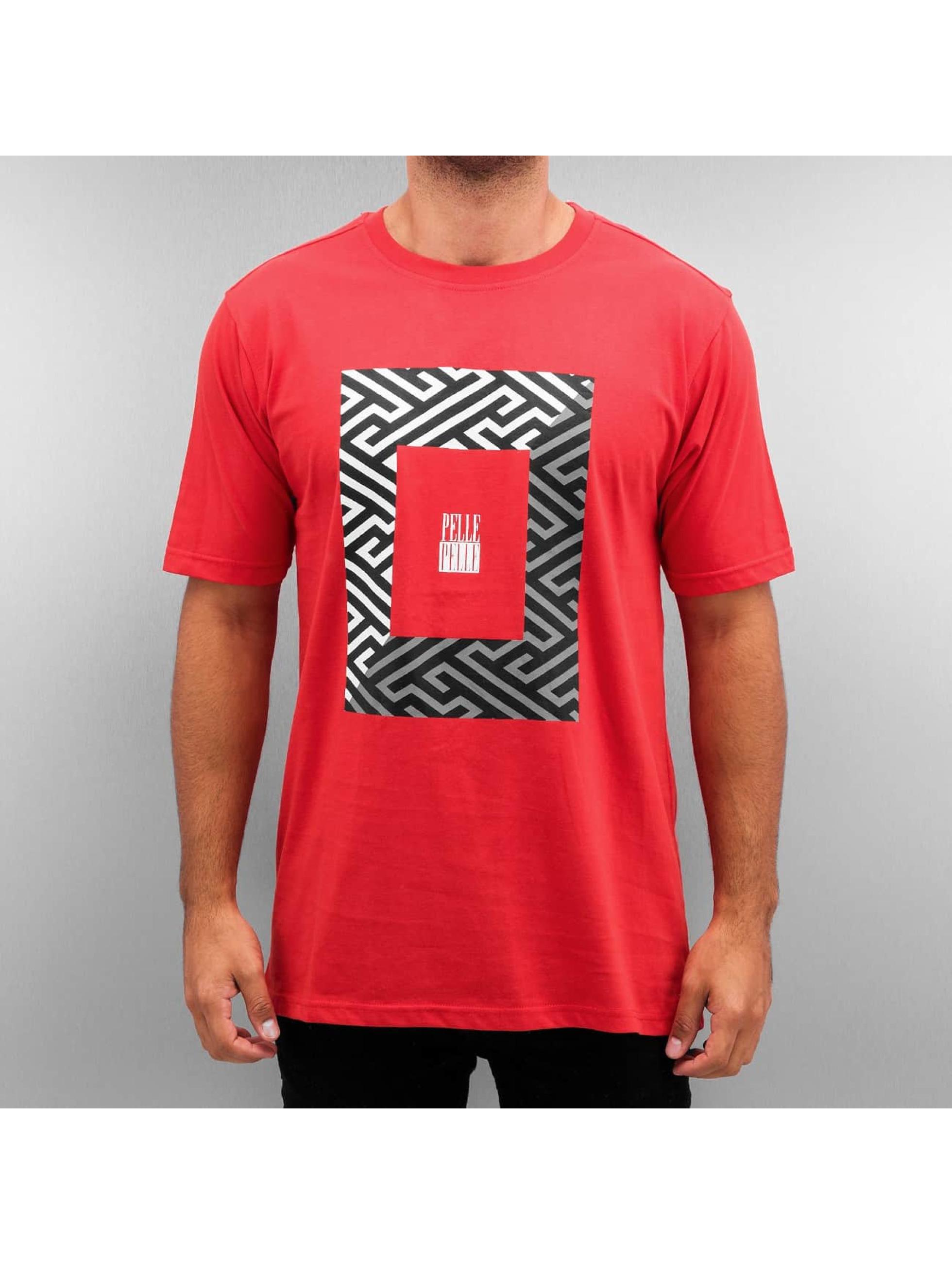 Pelle Pelle T-shirts 50/50 Dark Maze rød
