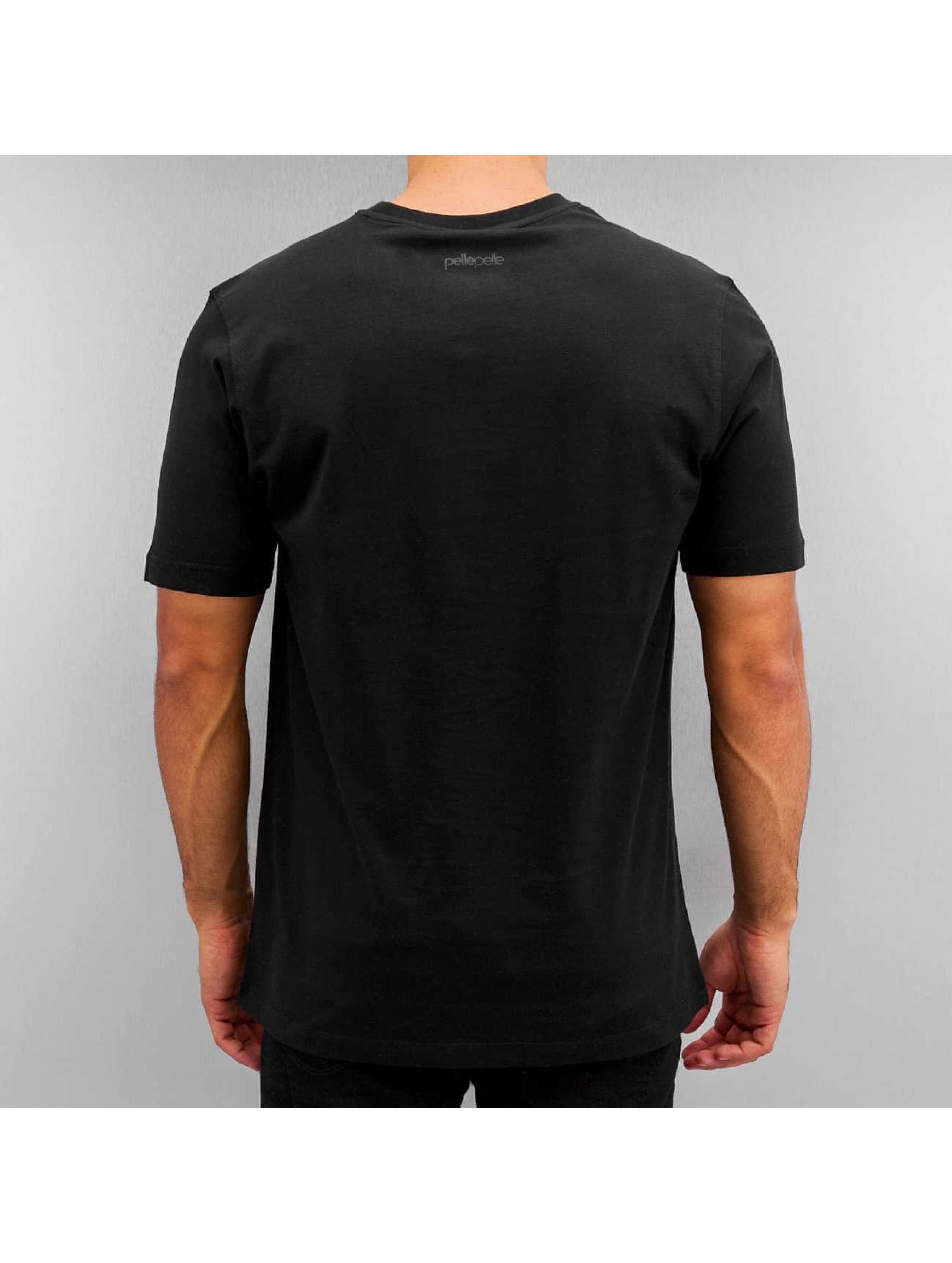 Pelle Pelle T-skjorter Core Icon Plate svart
