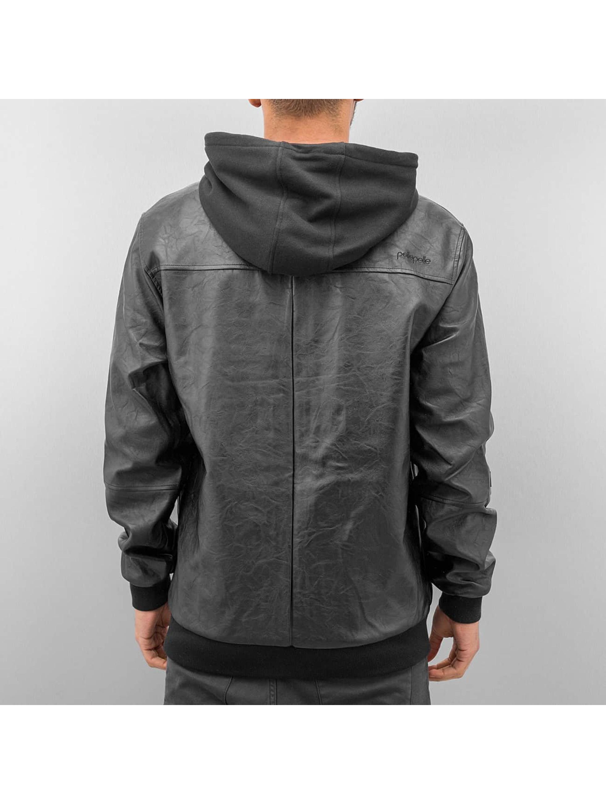 Pelle Pelle Zomerjas Mix-Up Hooded zwart