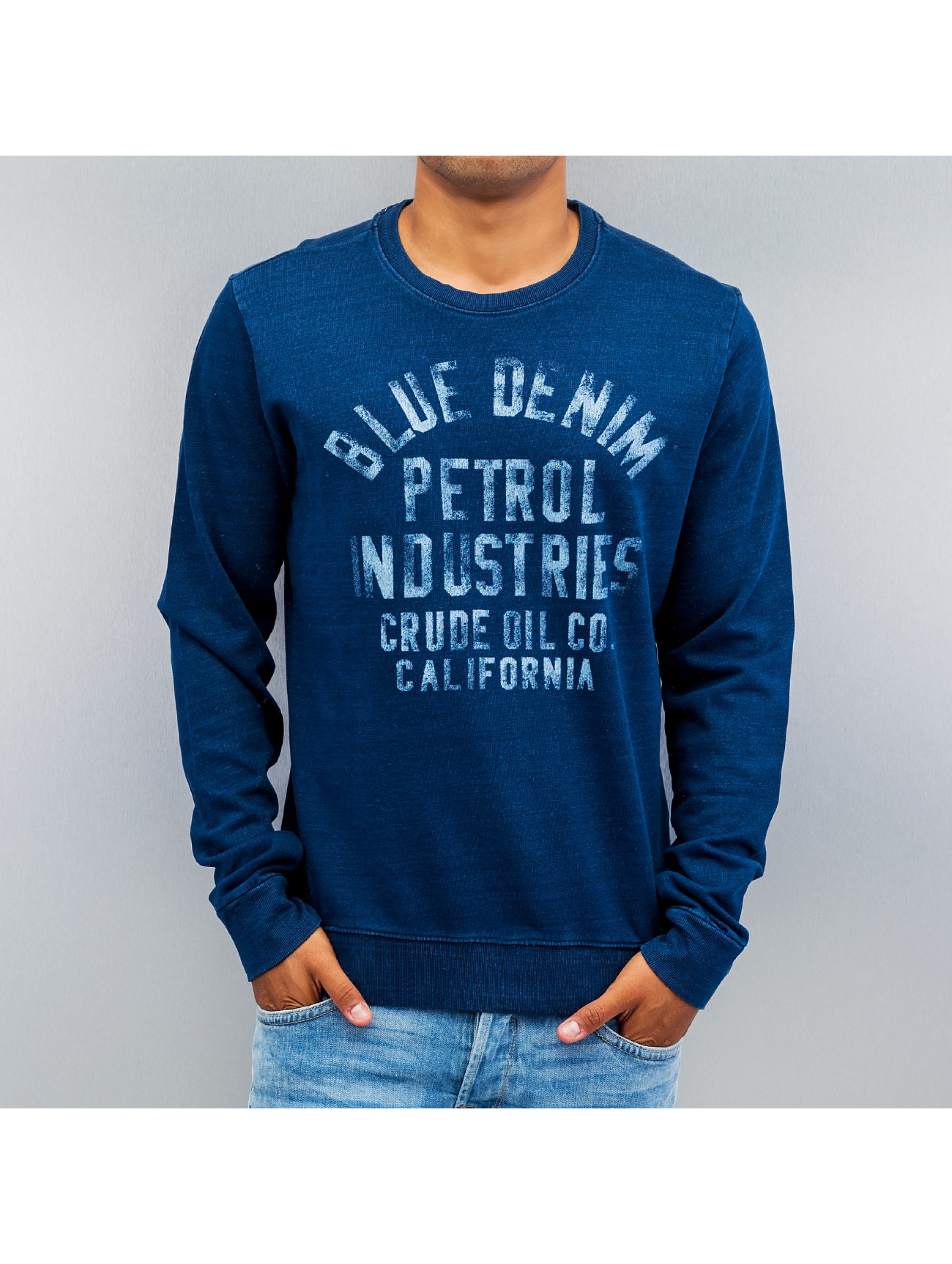 Petrol Industries Пуловер Blue Denim синий
