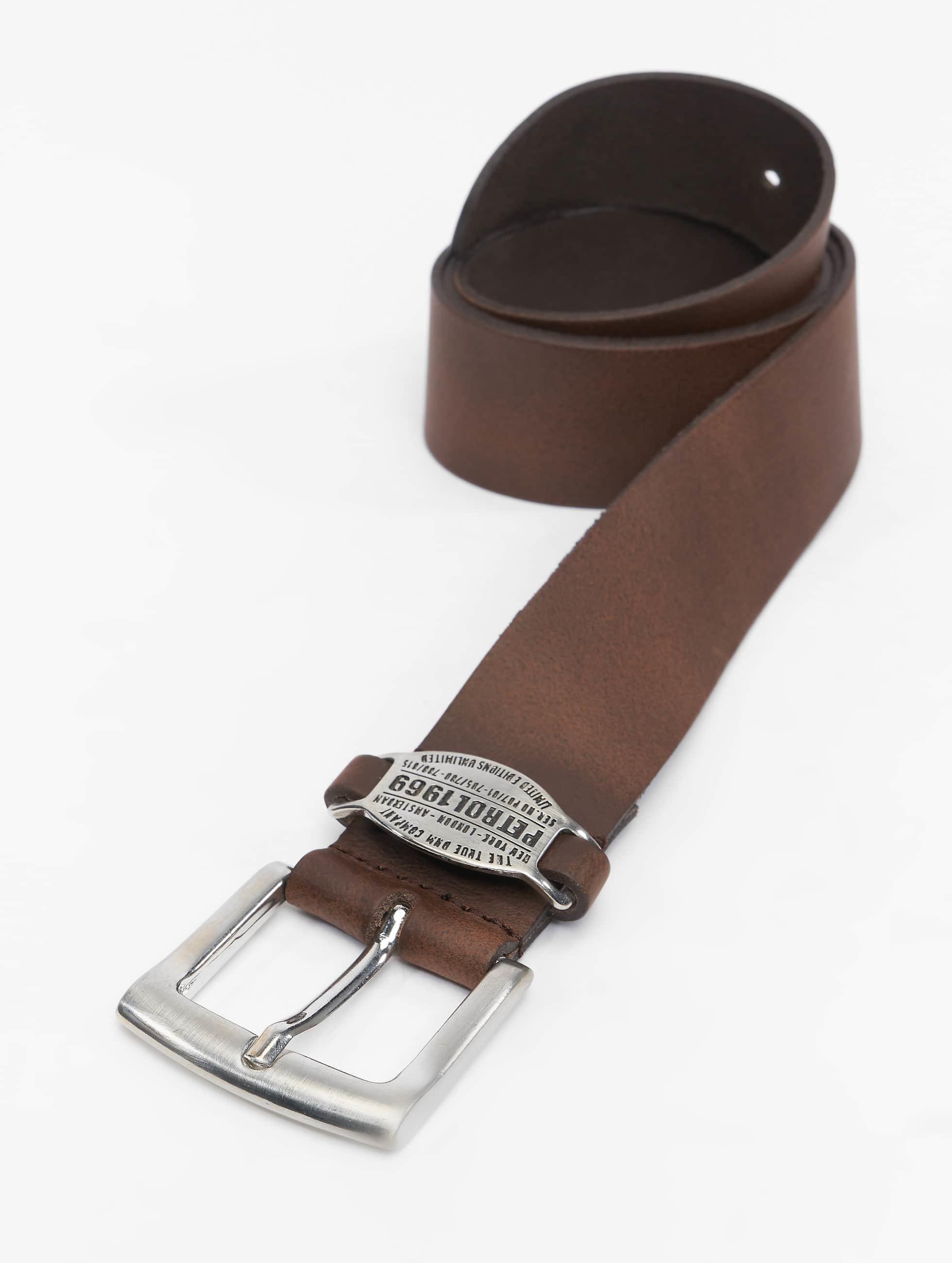 Petrol Industries Ремень Leather коричневый