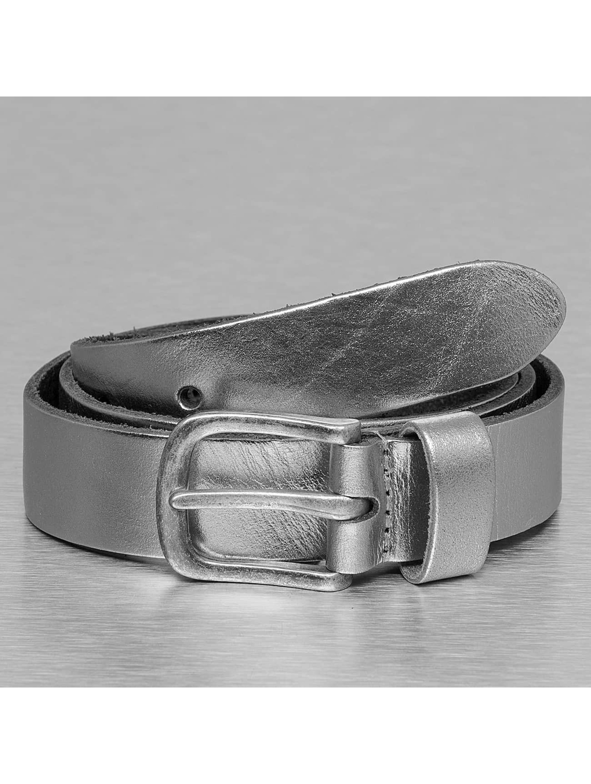 Petrol Industries Belt Leather silver colored
