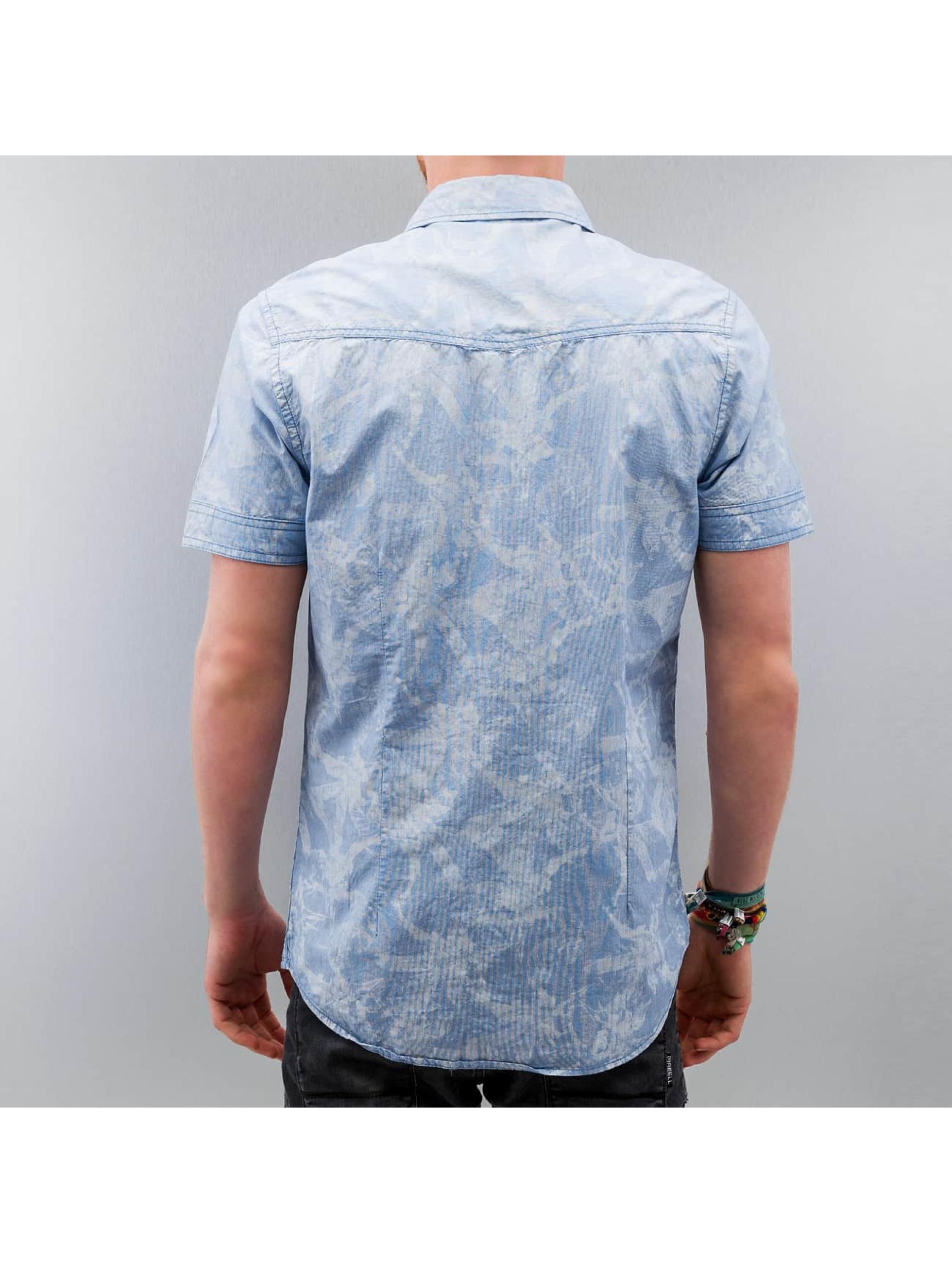 Petrol Industries overhemd Flower blauw