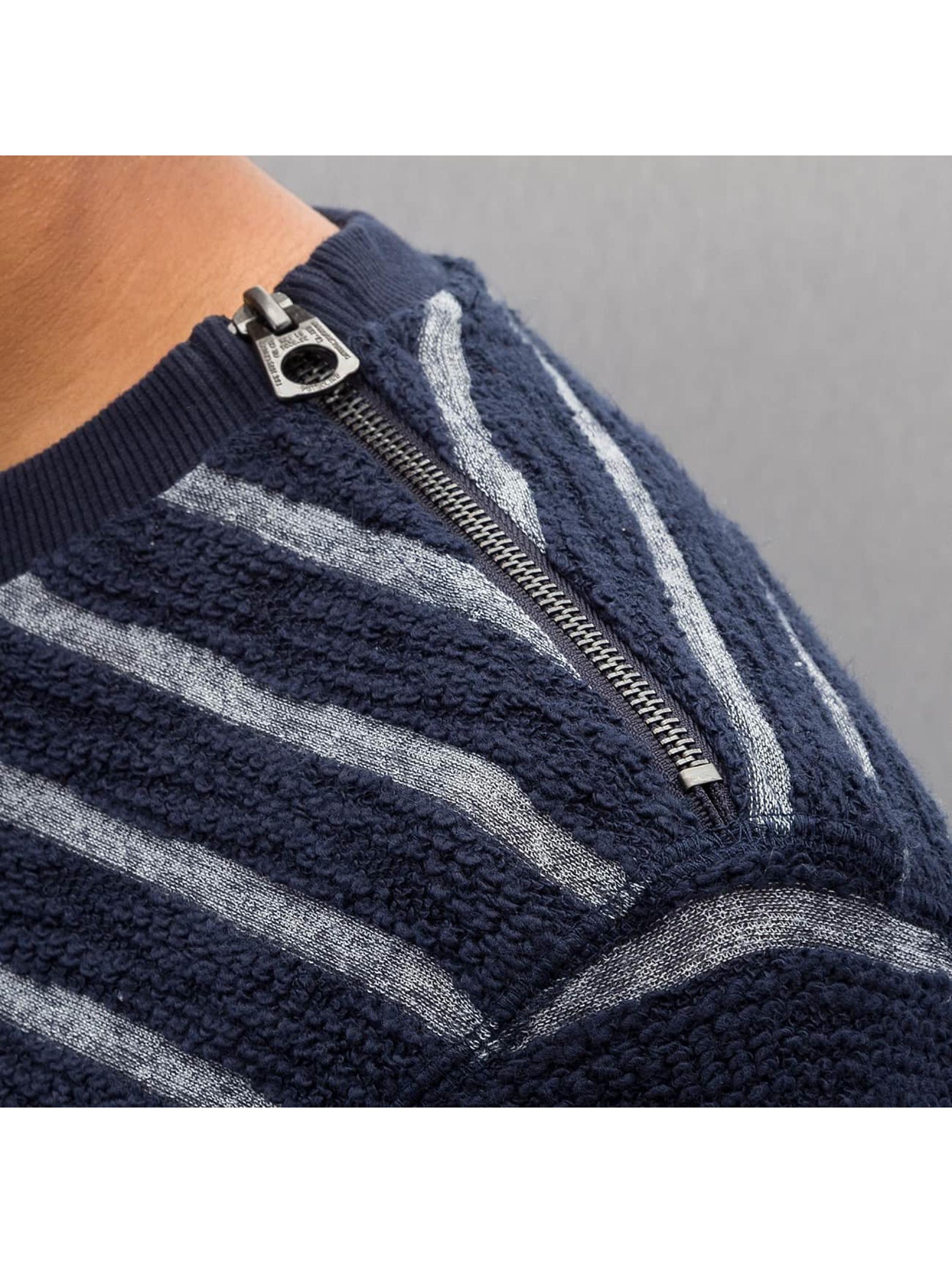 Petrol Industries Pullover Stripes blau