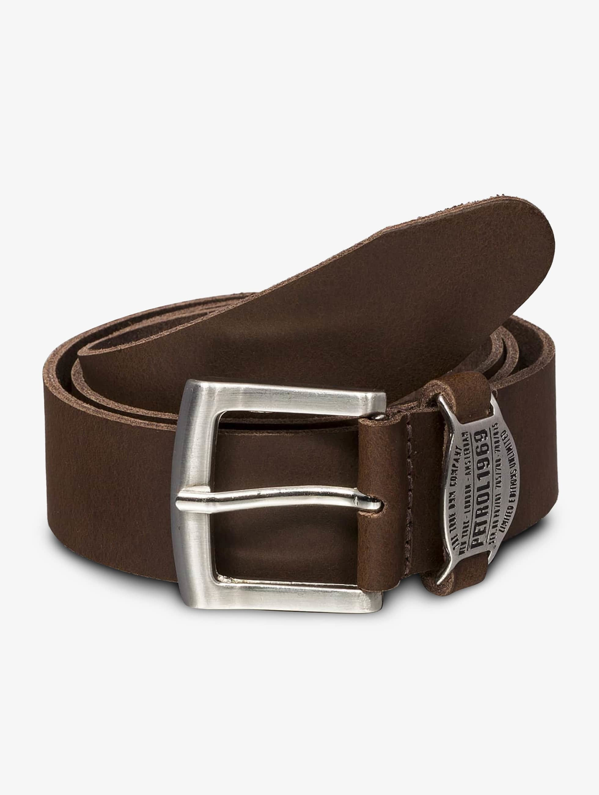 Petrol Industries riem Leather bruin