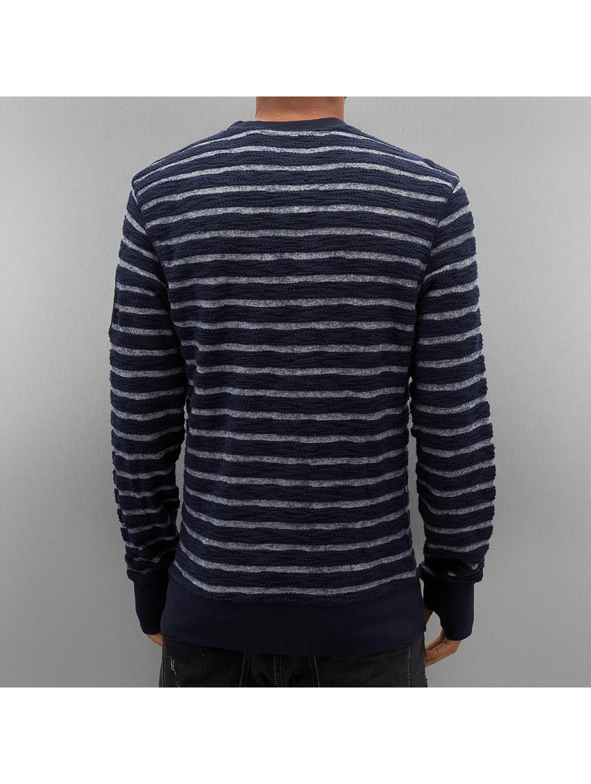 Petrol Industries Swetry Stripes niebieski