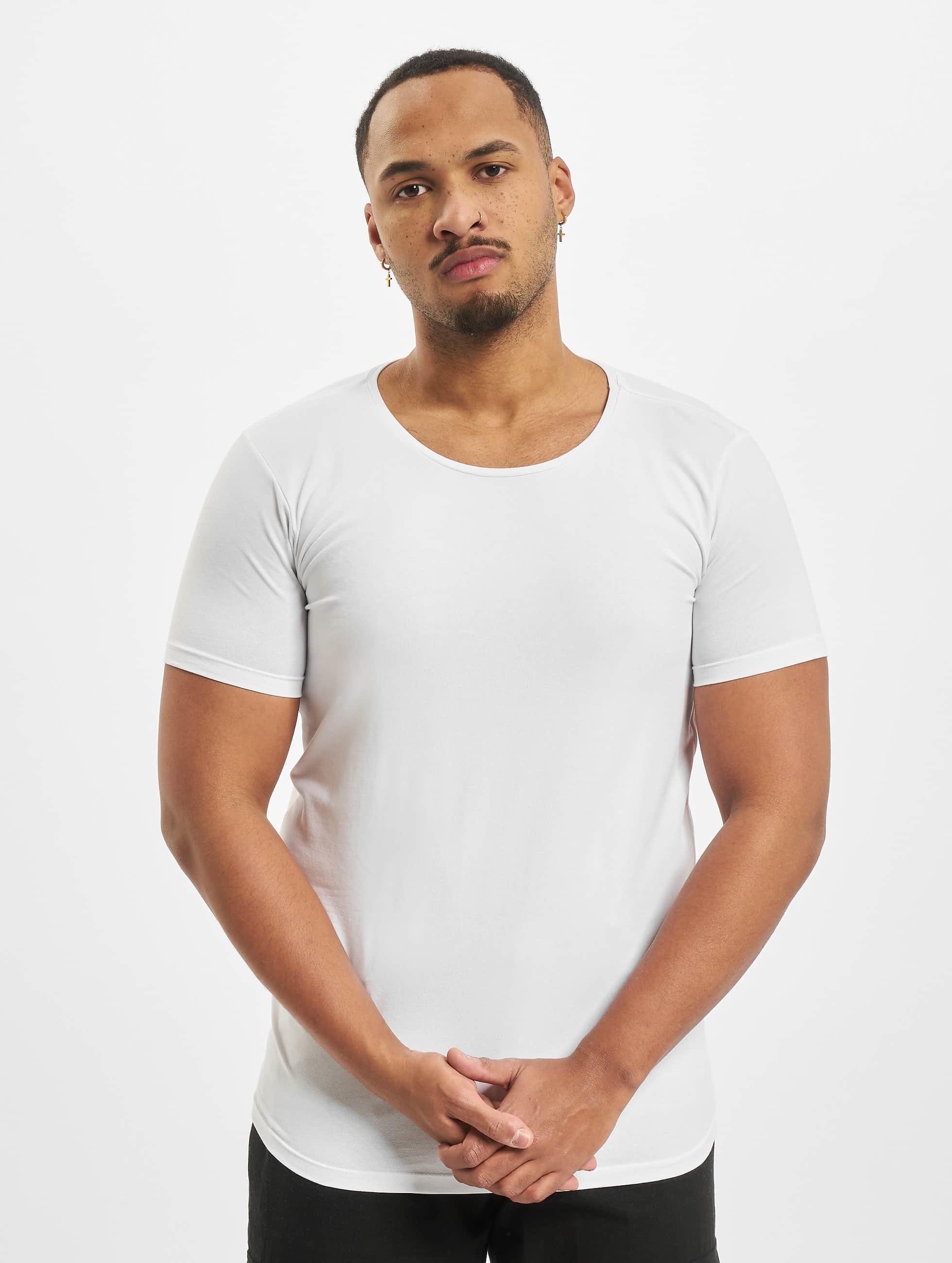 Petrol Industries T-paidat Bodyfit Basic 2 Pack valkoinen